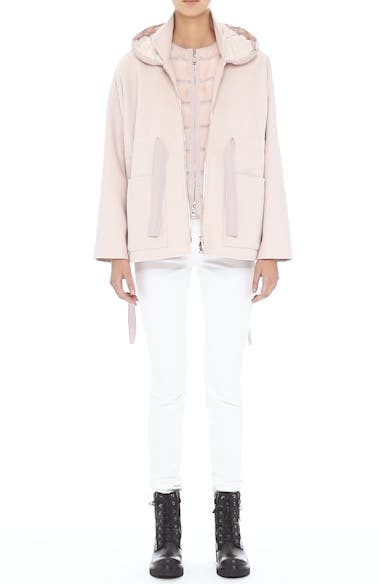 Ametrine Wool & Cashmere Vest with Genuine Mink Fur Trim & Removable Hood, video thumbnail