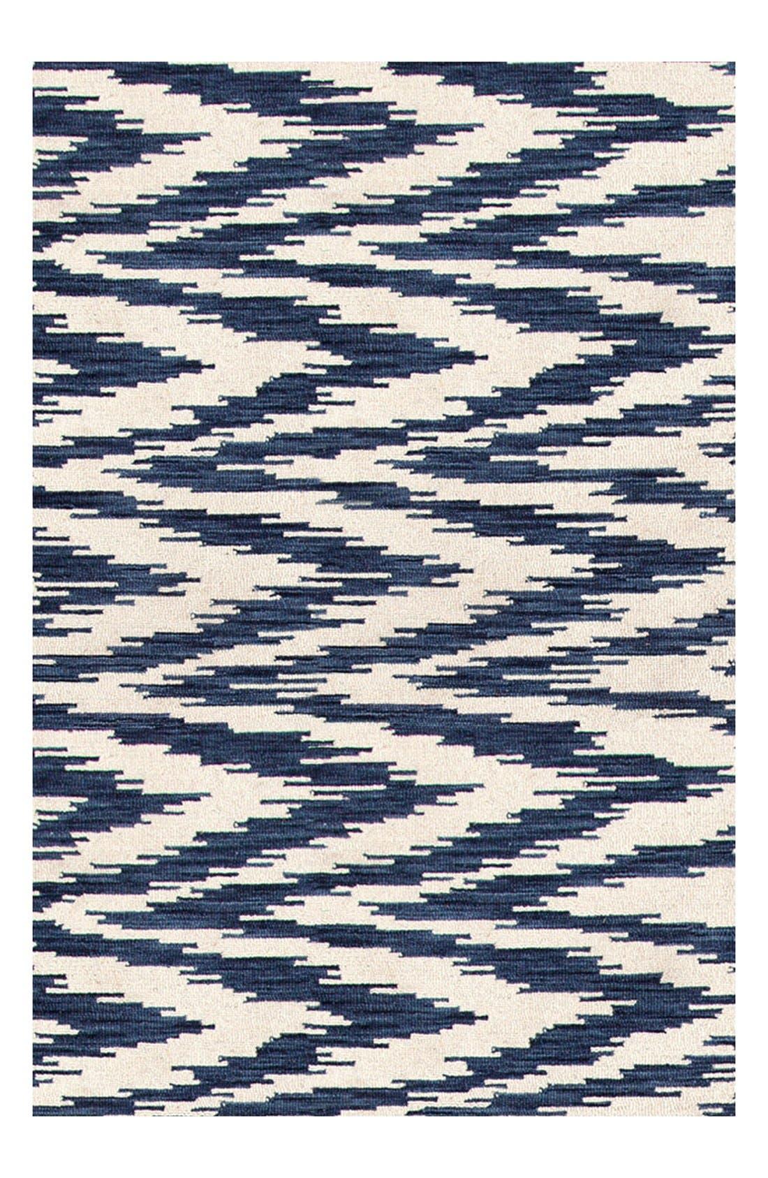 'Chekat Ink' Wool Rug,                             Alternate thumbnail 2, color,                             BLUE
