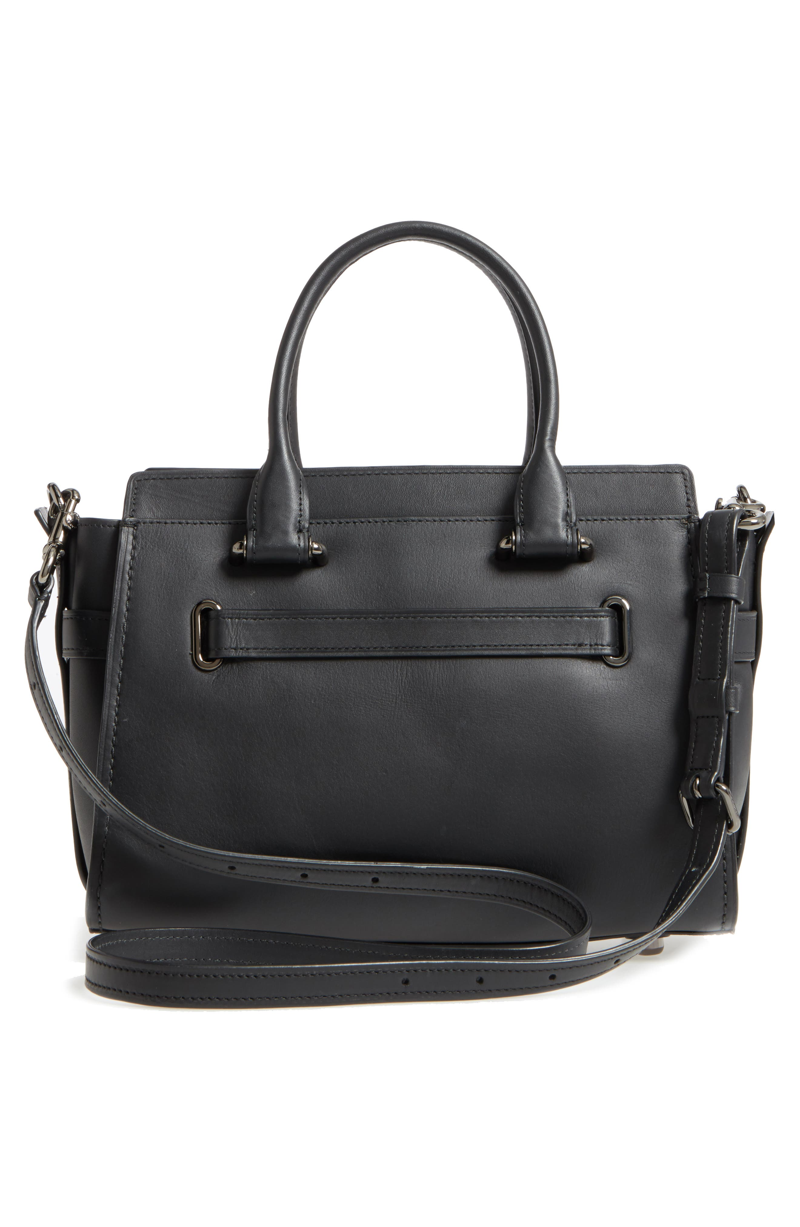 Swagger 27 Calfskin Leather Satchel,                             Alternate thumbnail 5, color,