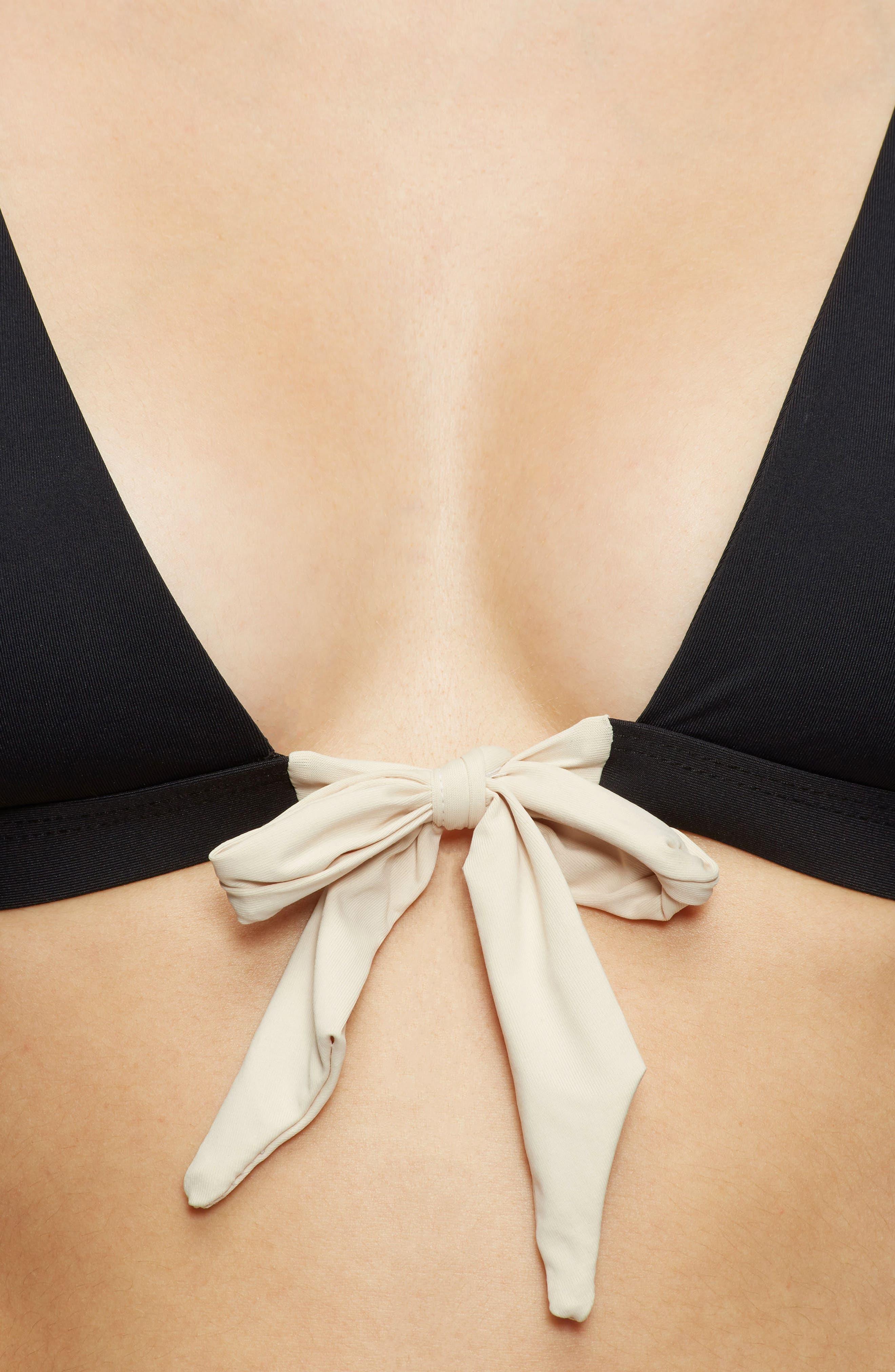 Caroline Bikini Top,                             Alternate thumbnail 4, color,                             001
