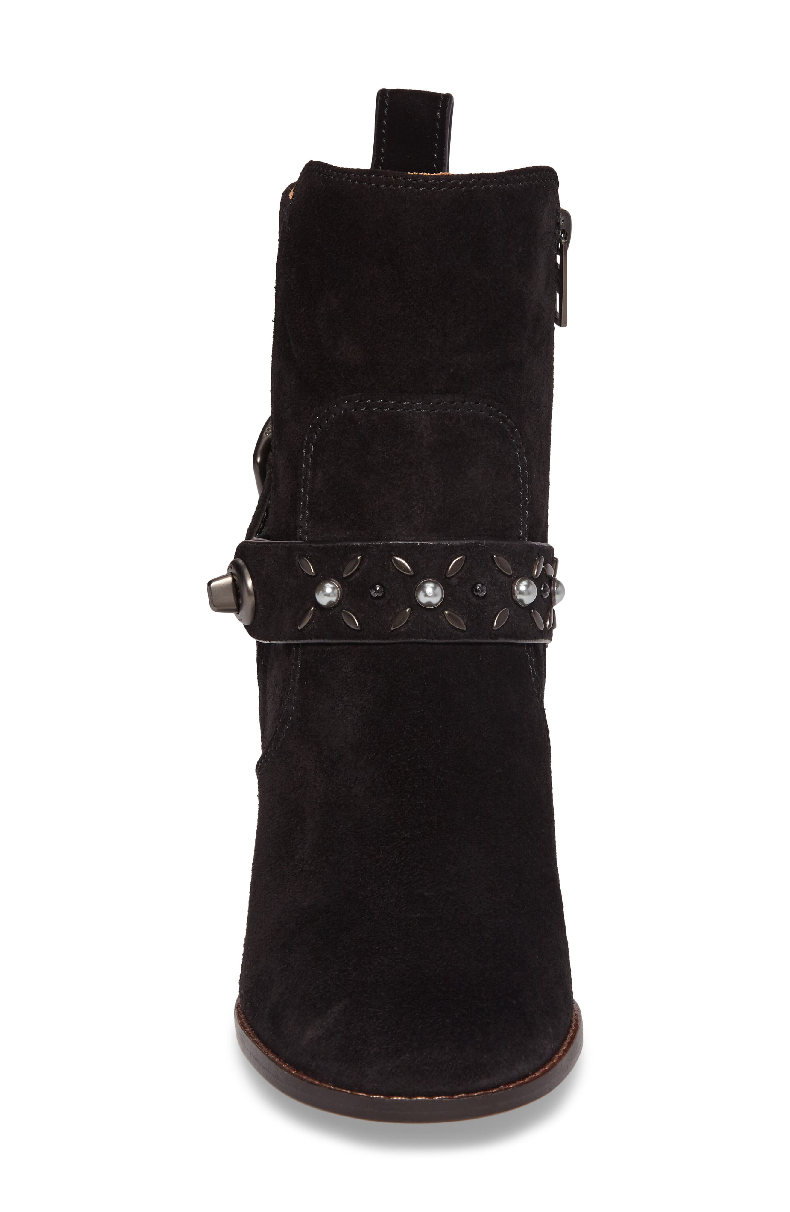 Studded Western Boot,                             Alternate thumbnail 4, color,                             001