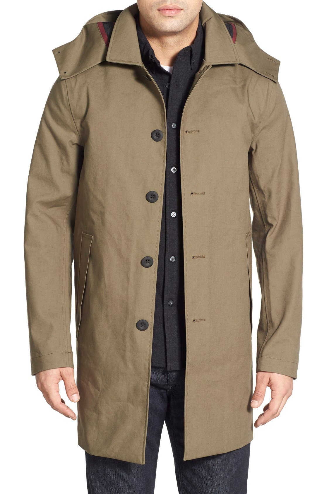 VICTORINOX SWISS ARMY<SUP>®</SUP> 'Lenzburg' Longline Waterproof Jacket, Main, color, 961