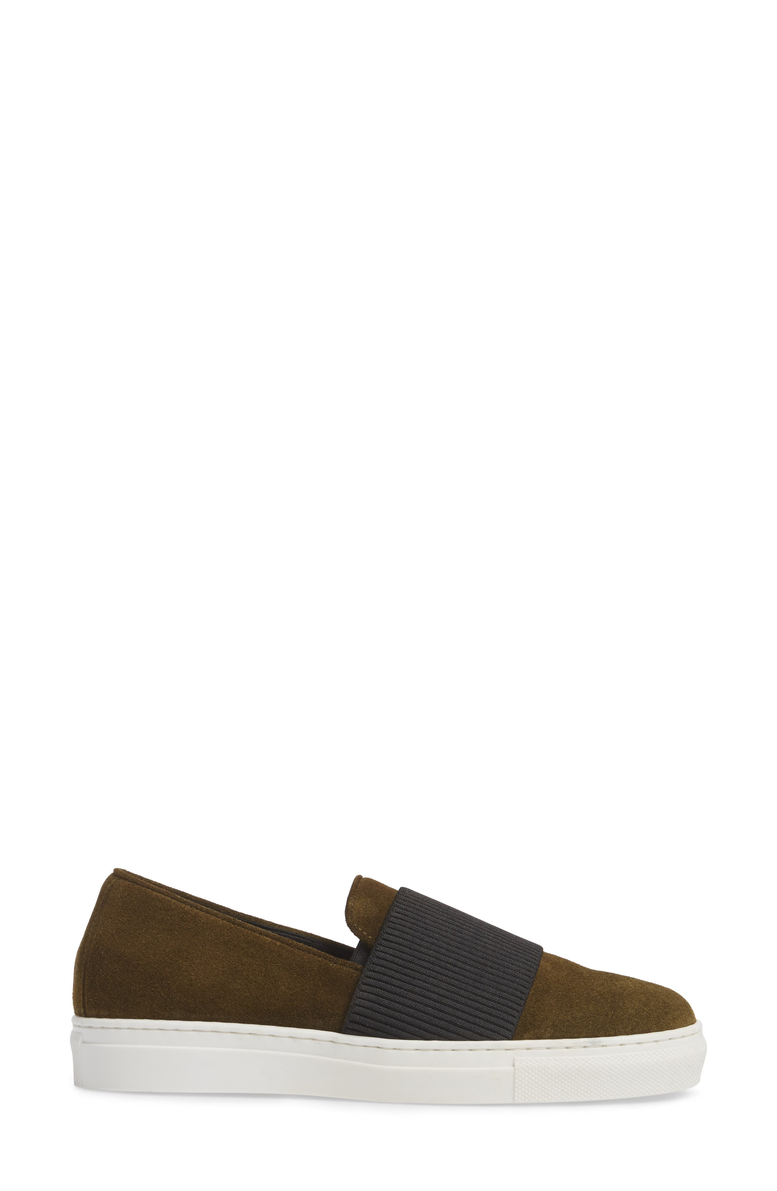 Otto Slip-On Sneaker,                             Alternate thumbnail 3, color,                             MILITARY PRINT SUEDE