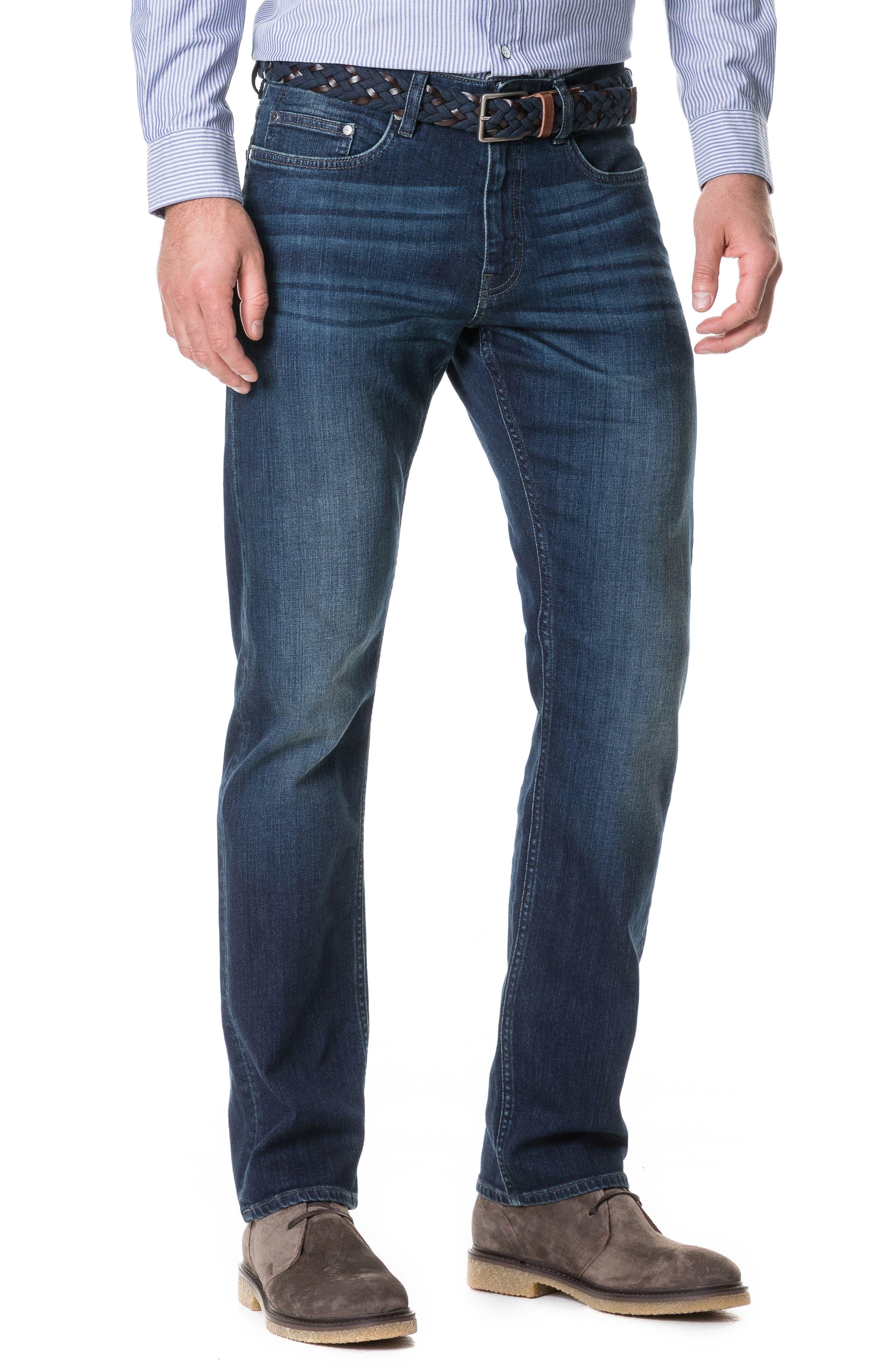 Barton Straight Leg Jeans,                             Main thumbnail 1, color,                             DENIM