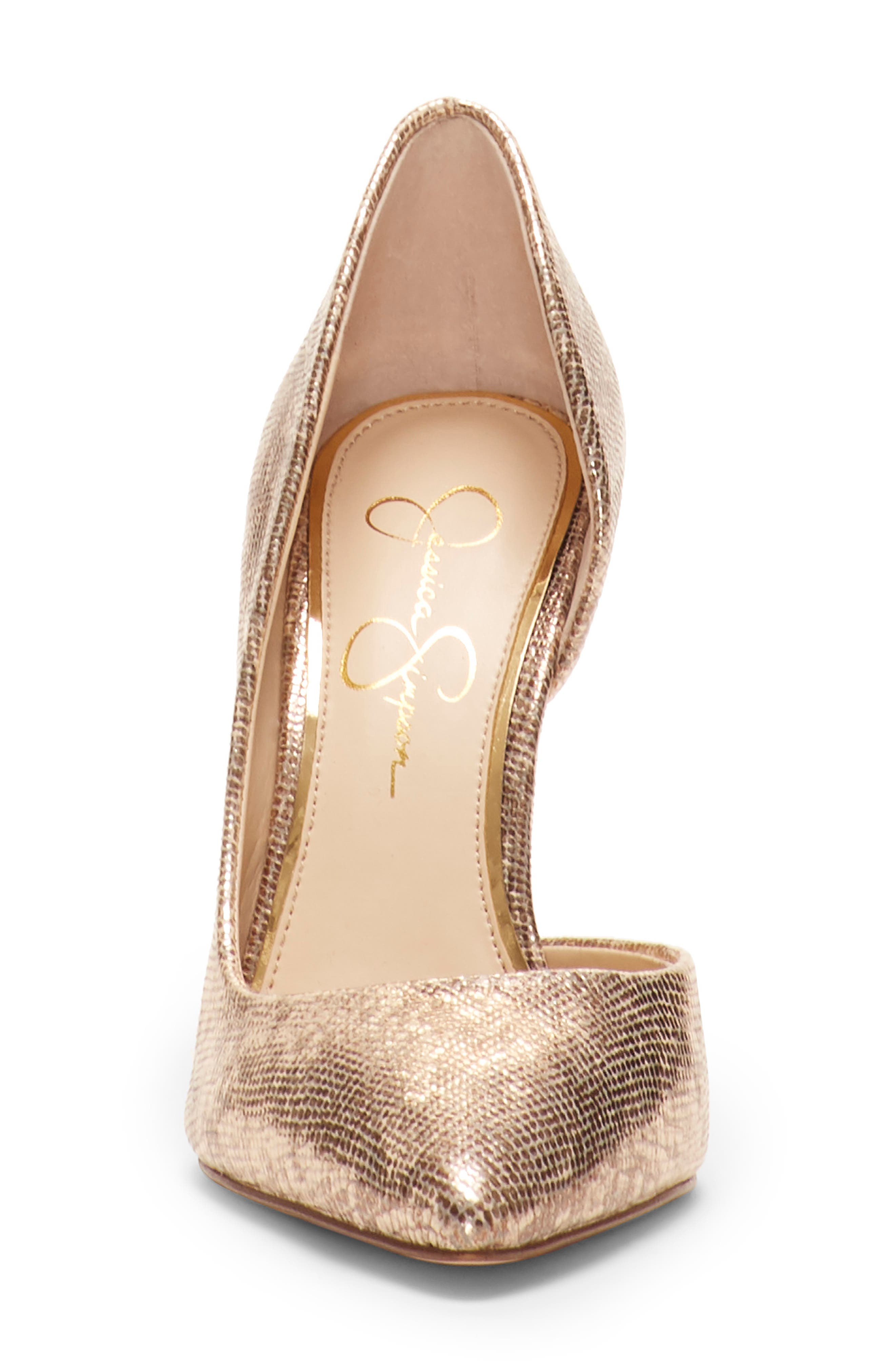 JESSICA SIMPSON,                             Pheona Pump,                             Alternate thumbnail 3, color,                             KARAT GOLD