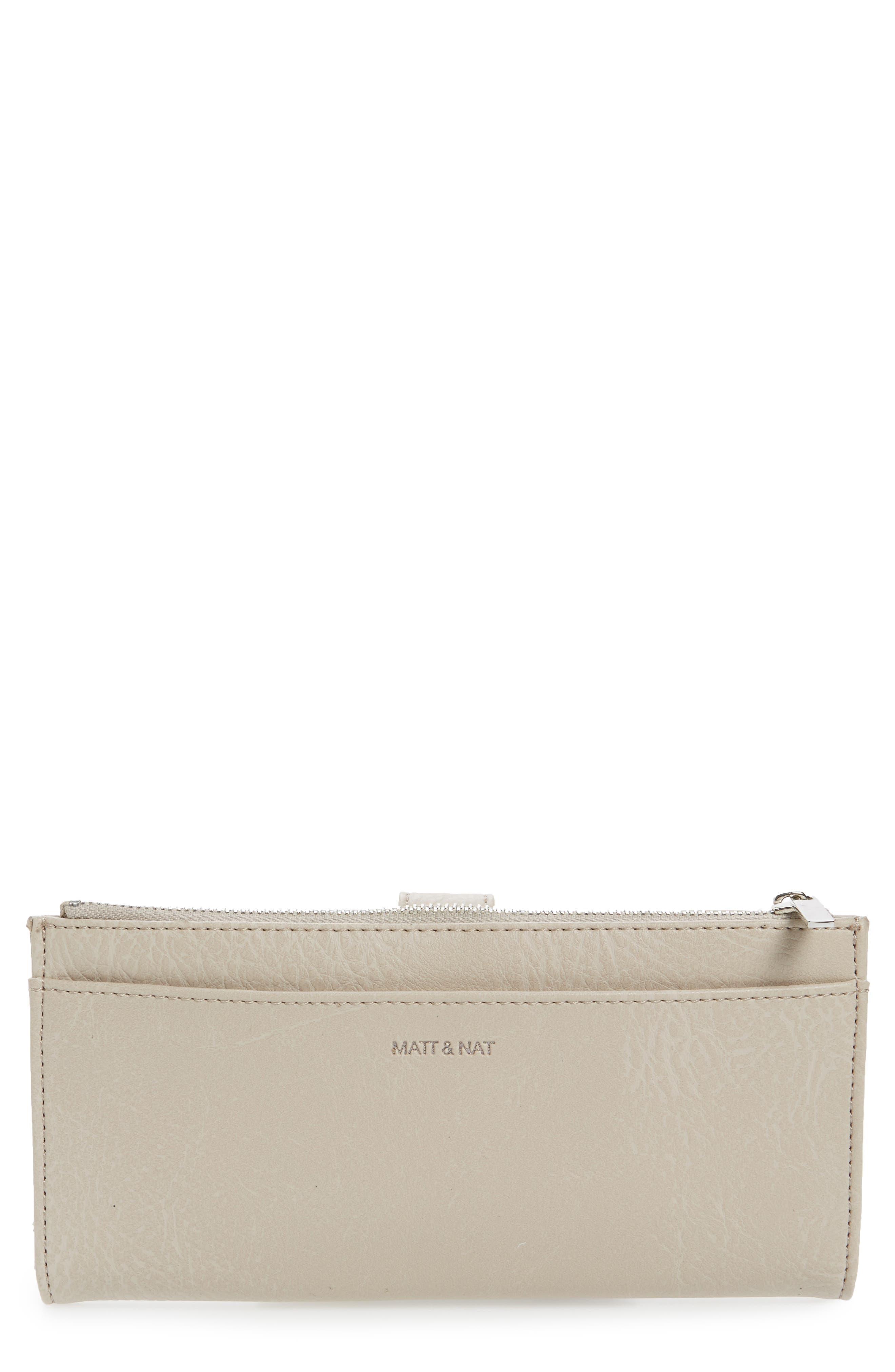 Matt & Nat Motiv Faux Leather Continental Wallet - Beige