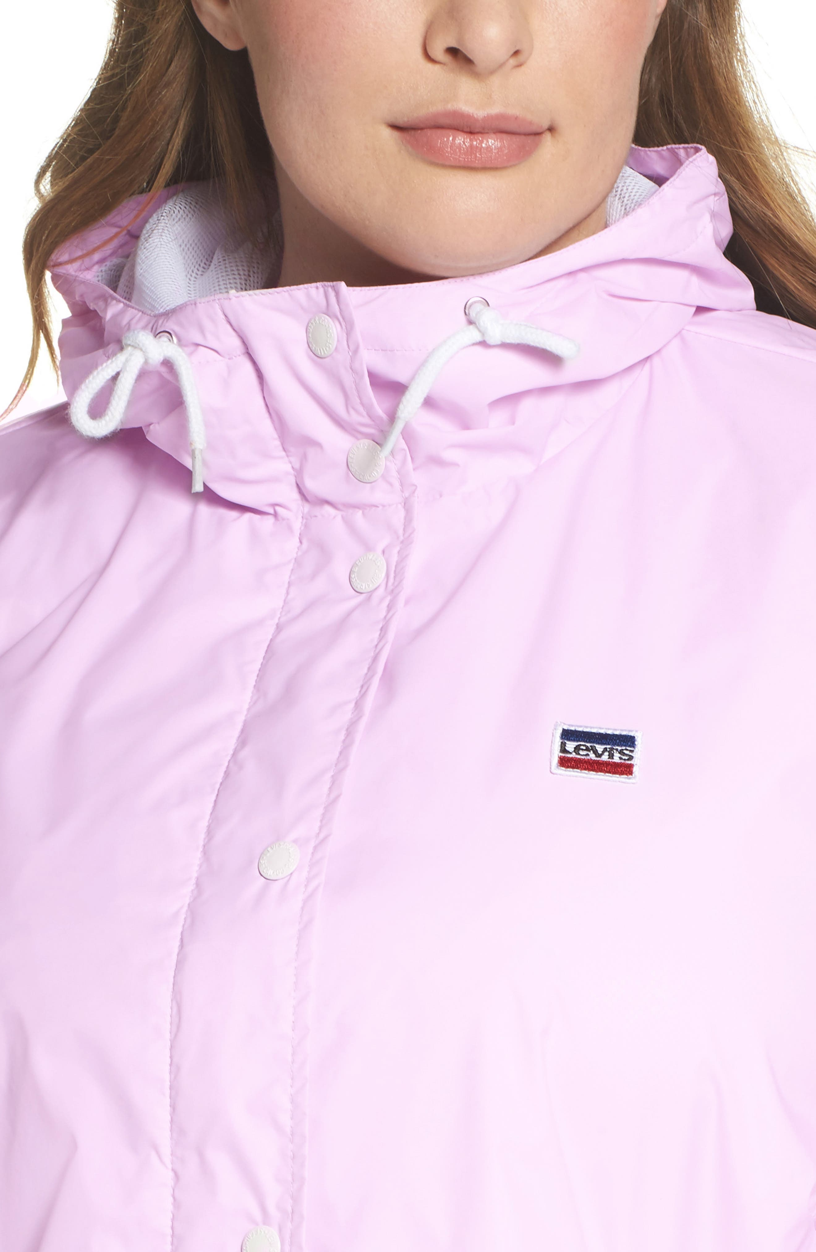 Retro Hooded Coach's Jacket,                             Alternate thumbnail 16, color,