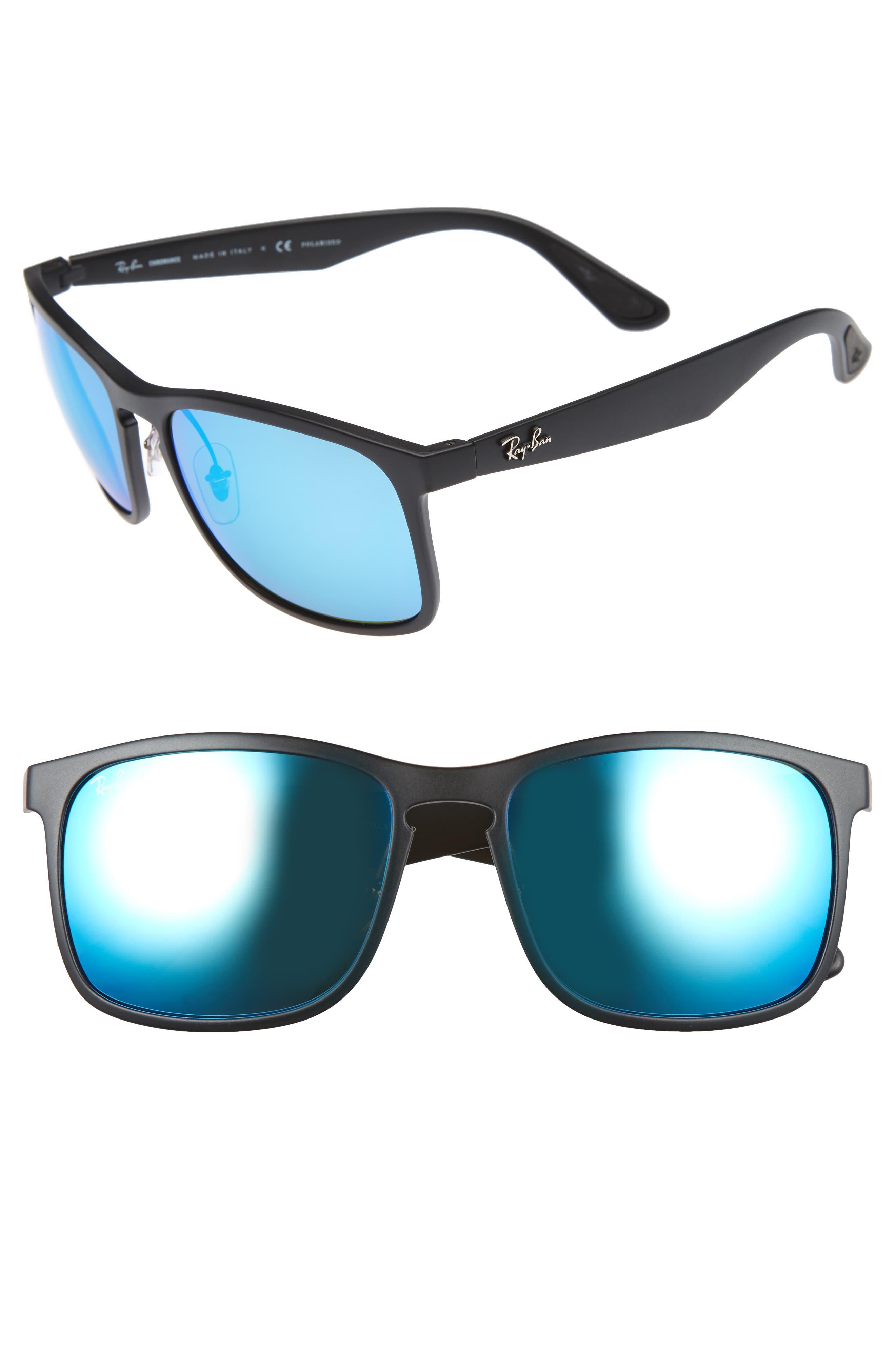 Tech 62mm Polarized Wayfarer Sunglasses,                             Main thumbnail 1, color,                             001