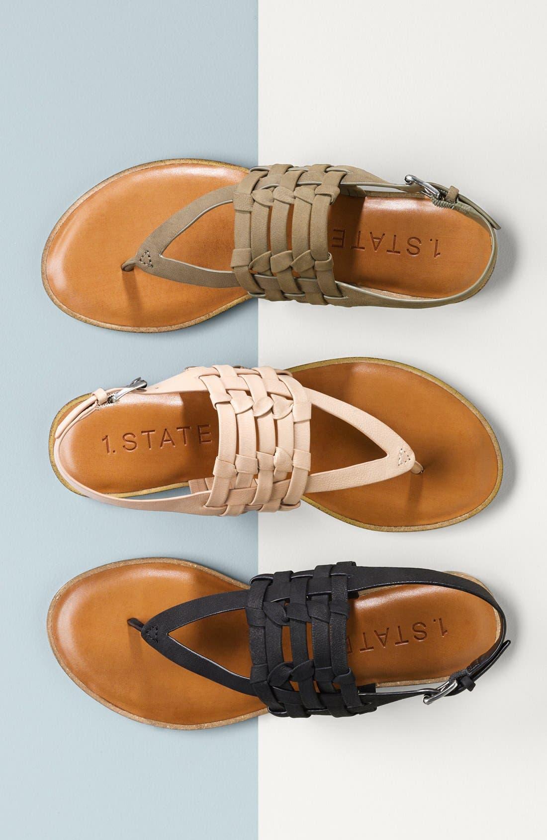 Lenn Sandal,                             Alternate thumbnail 7, color,                             WHITE NUBUCK LEATHER