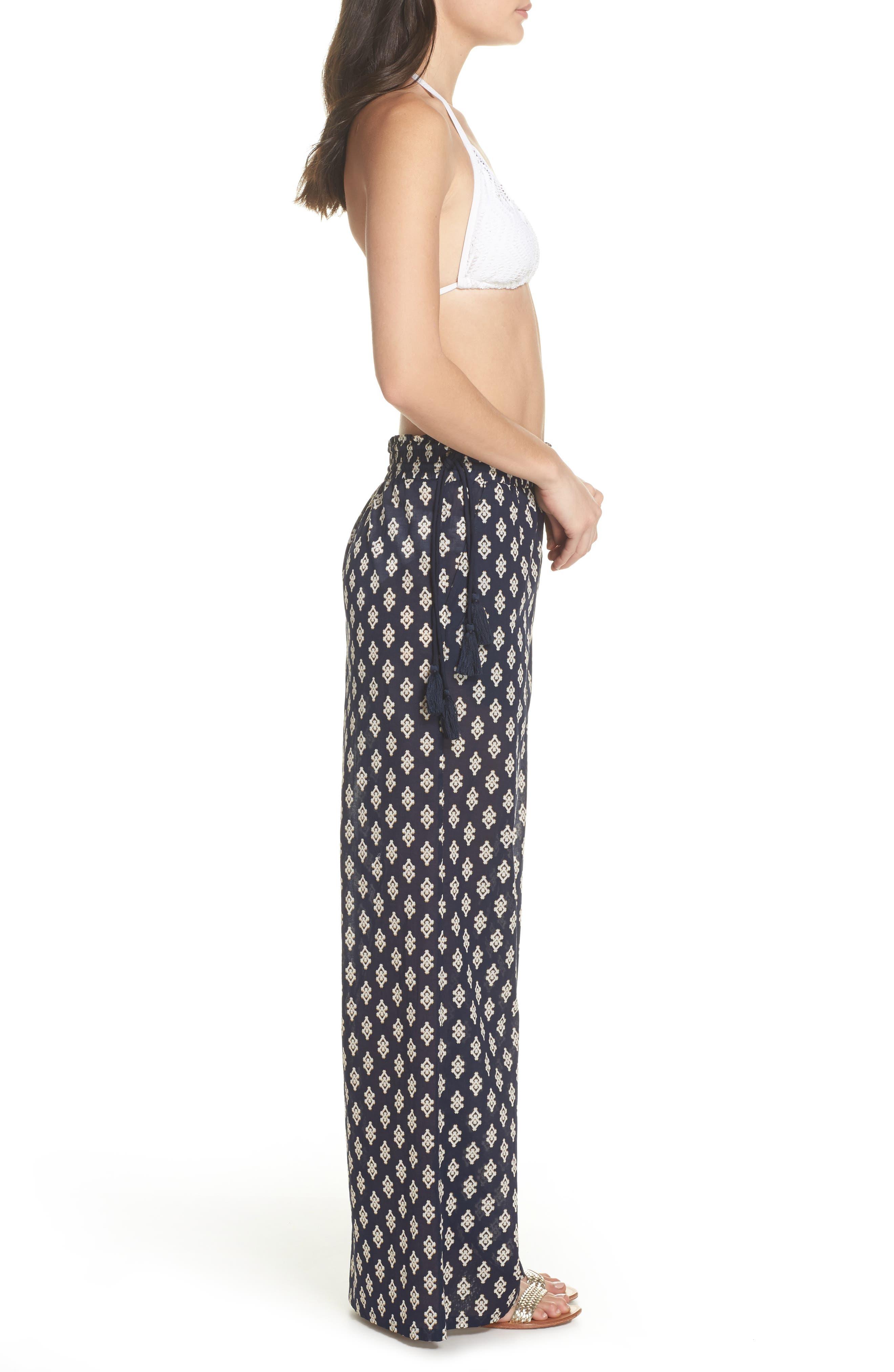 Double Diamond Cover-Up Pants,                             Alternate thumbnail 3, color,                             487