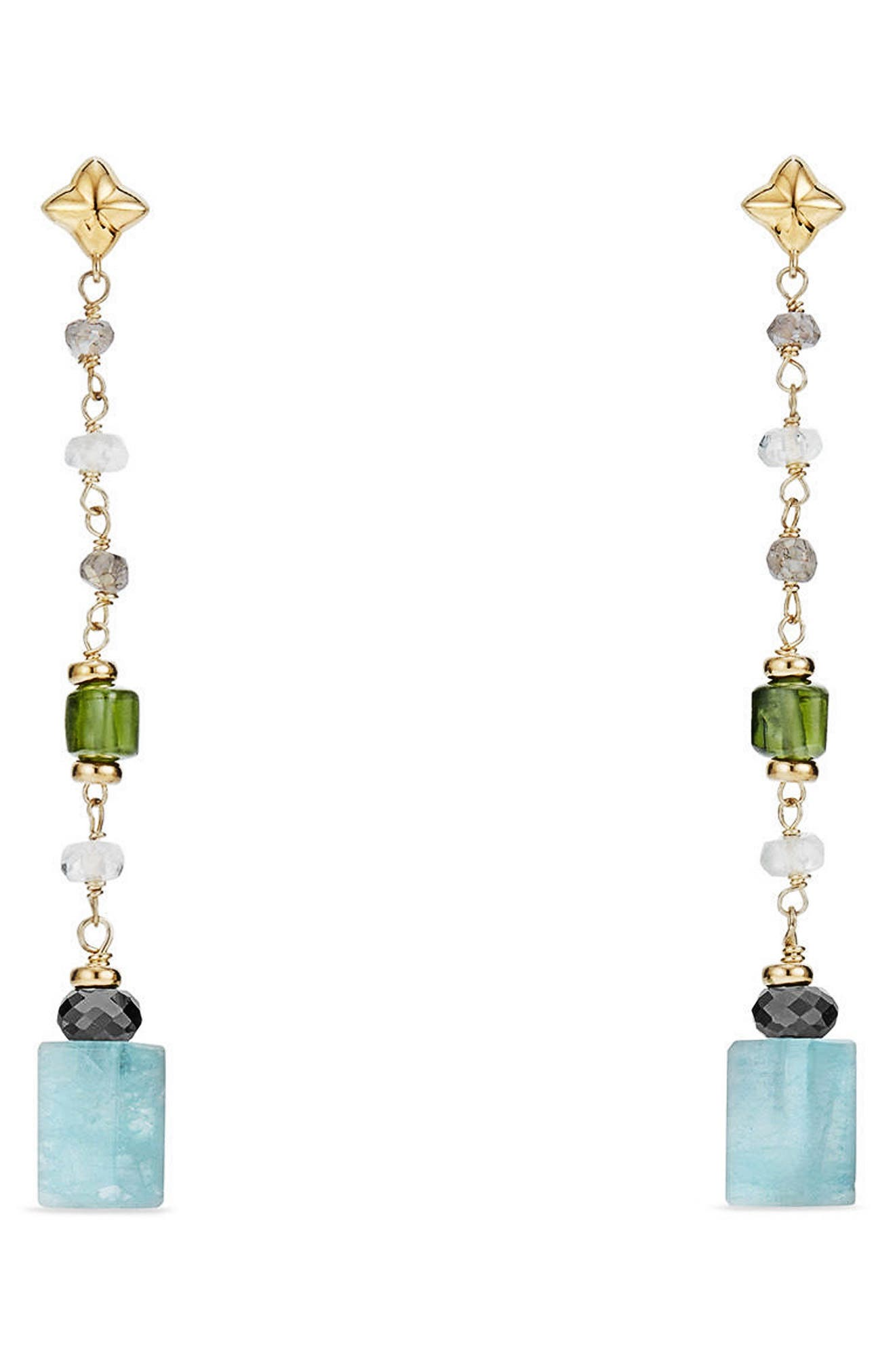 Bead & Chain Earrings with Semiprecious Stones,                         Main,                         color, 440