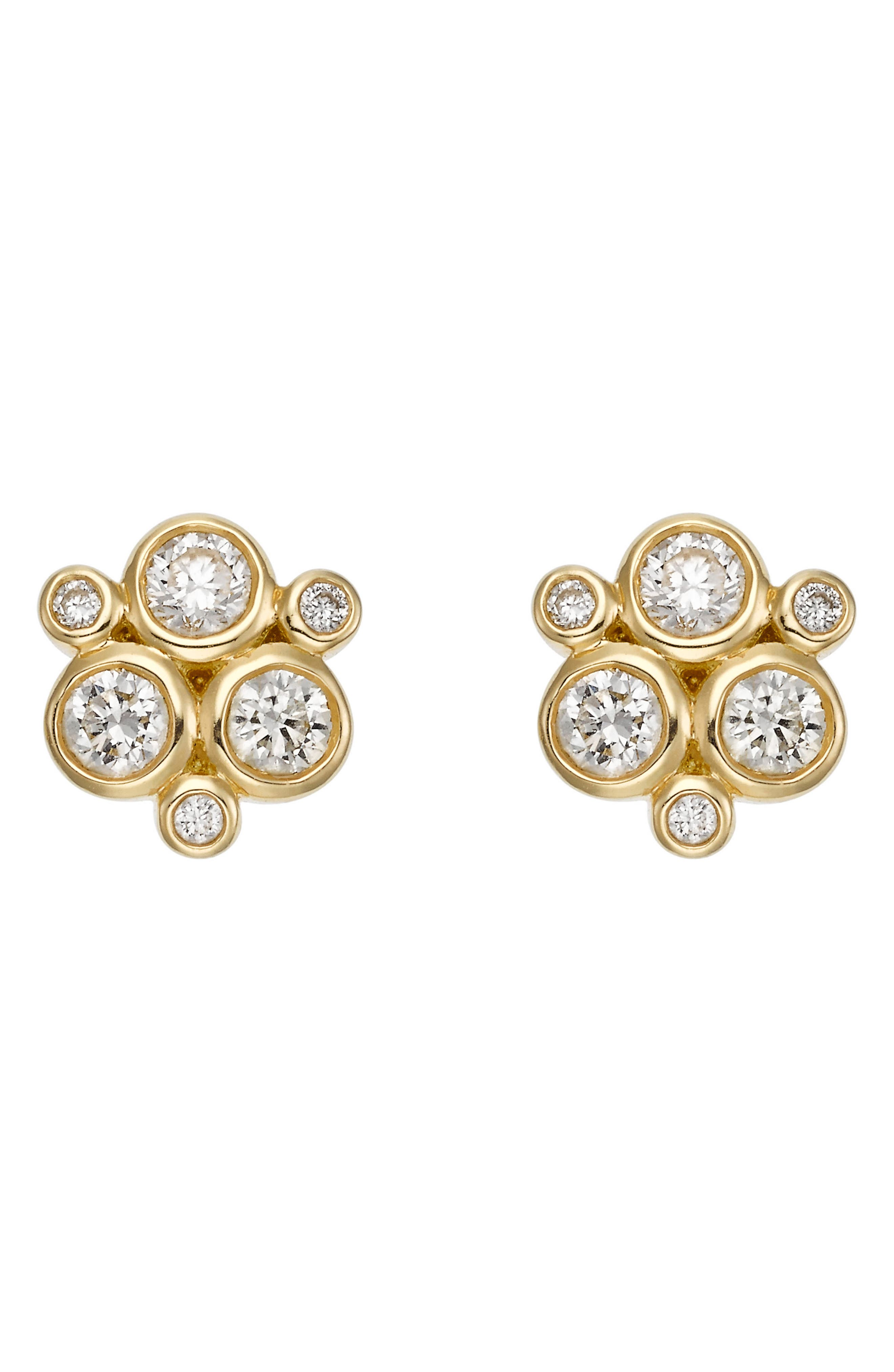 Temple St. Clair Diamond Stud Earrings,                             Main thumbnail 1, color,                             YELLOW GOLD
