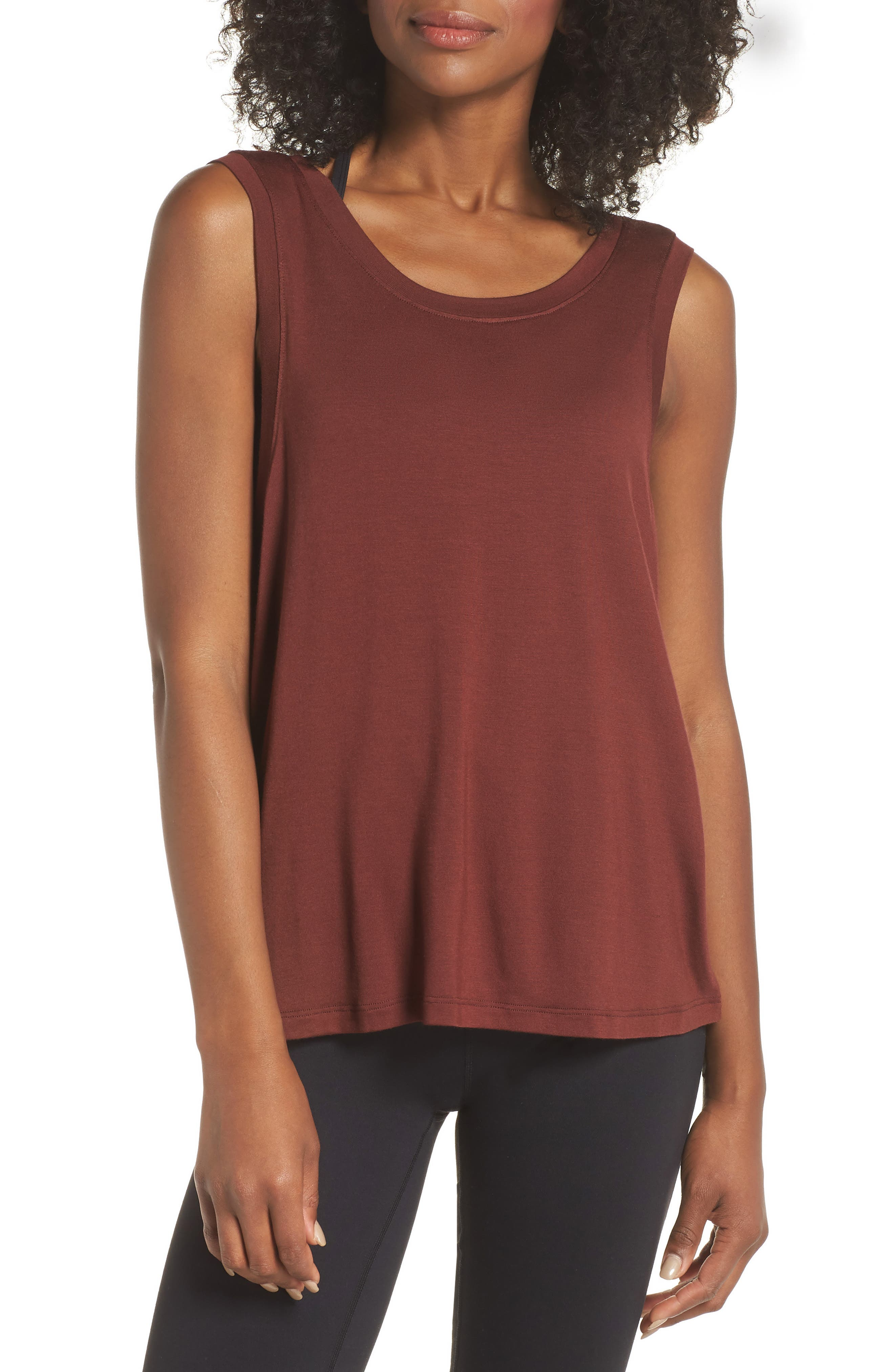 Balance Muscle Tank,                         Main,                         color, RED ROCK