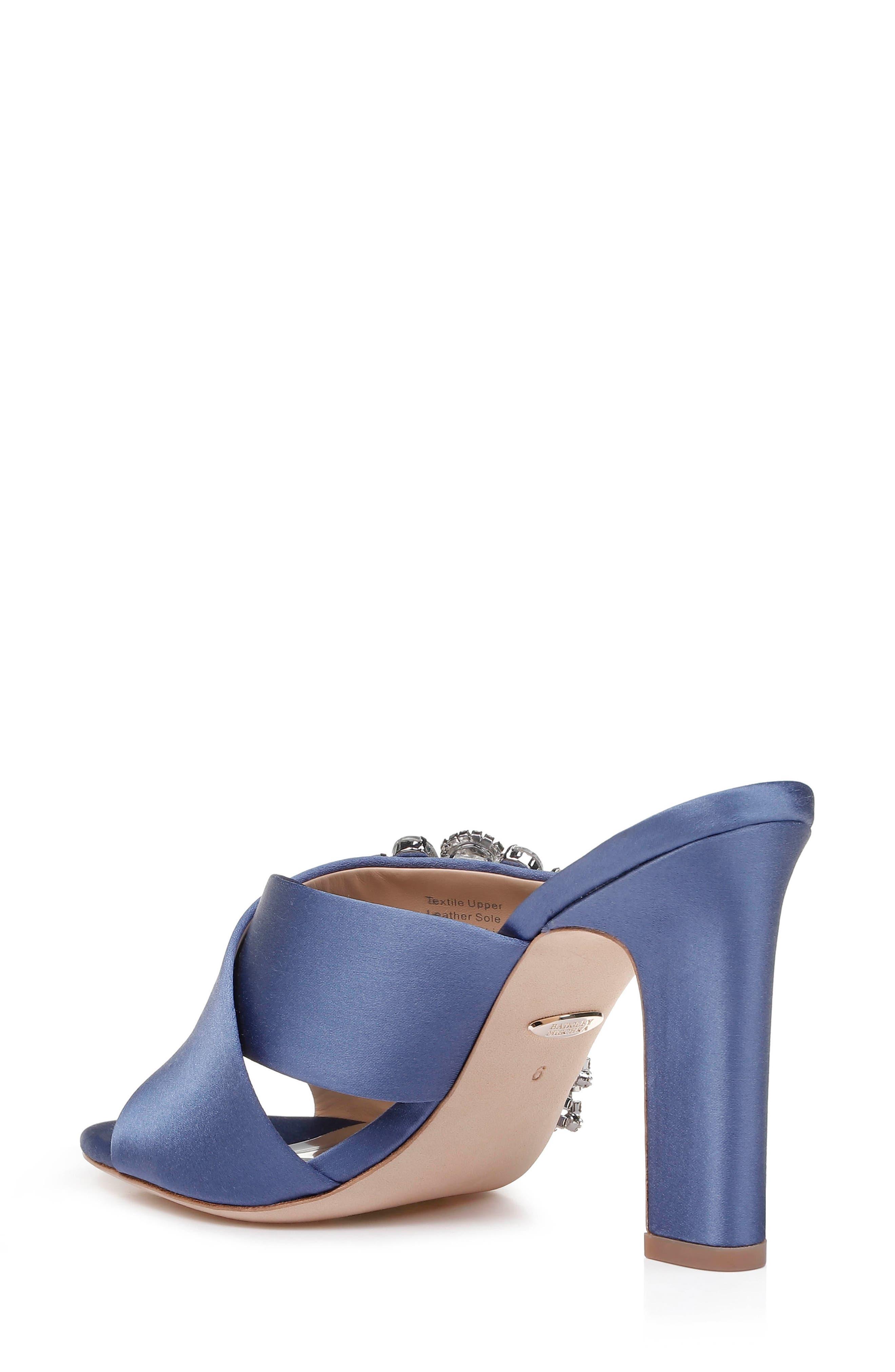 Badgley Mischka Farrah Sandal,                             Alternate thumbnail 2, color,                             ITALIAN BLUE SATIN