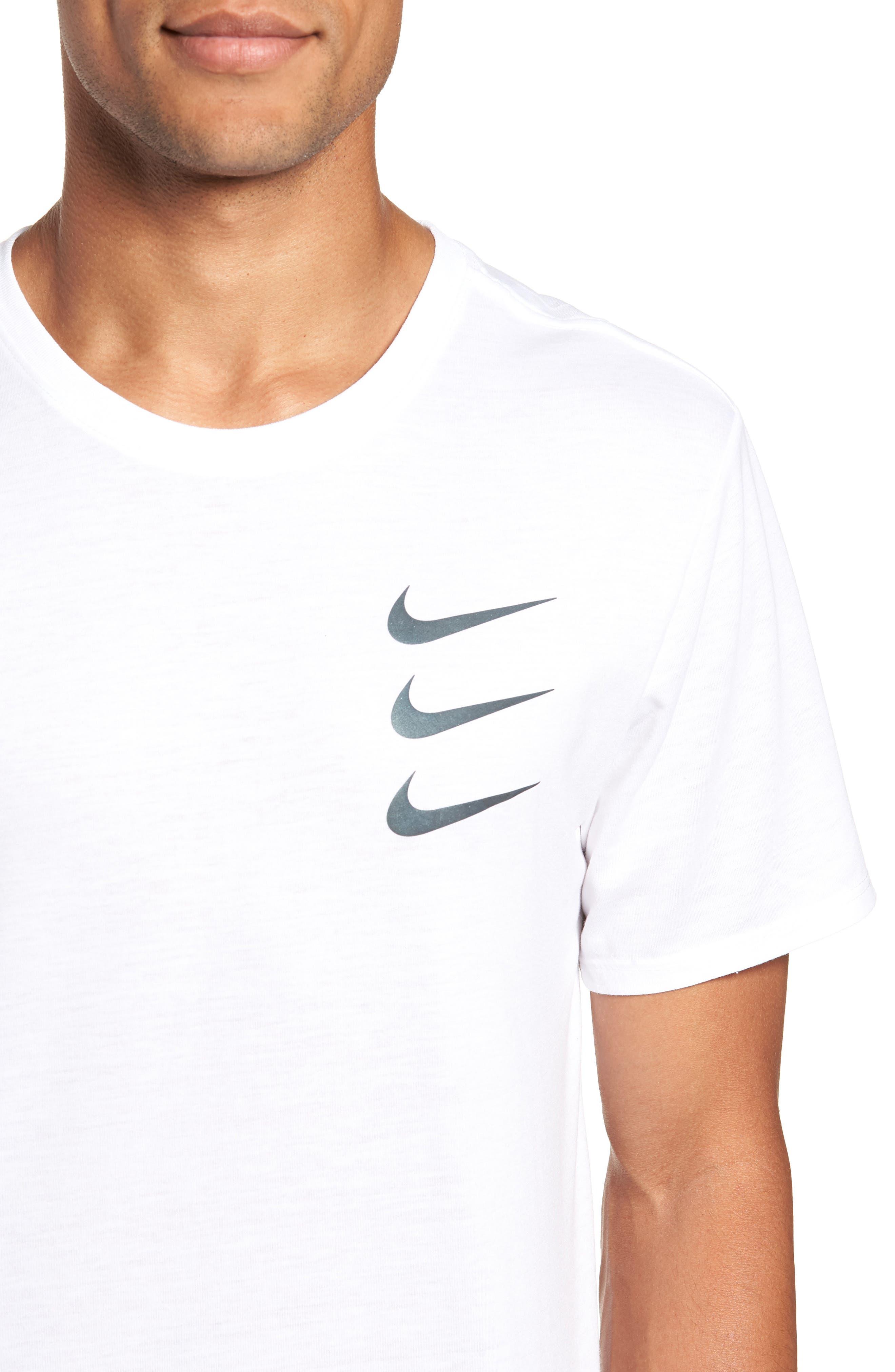 Dry Running Division T-Shirt,                             Alternate thumbnail 4, color,                             WHITE/ GUNSMOKE
