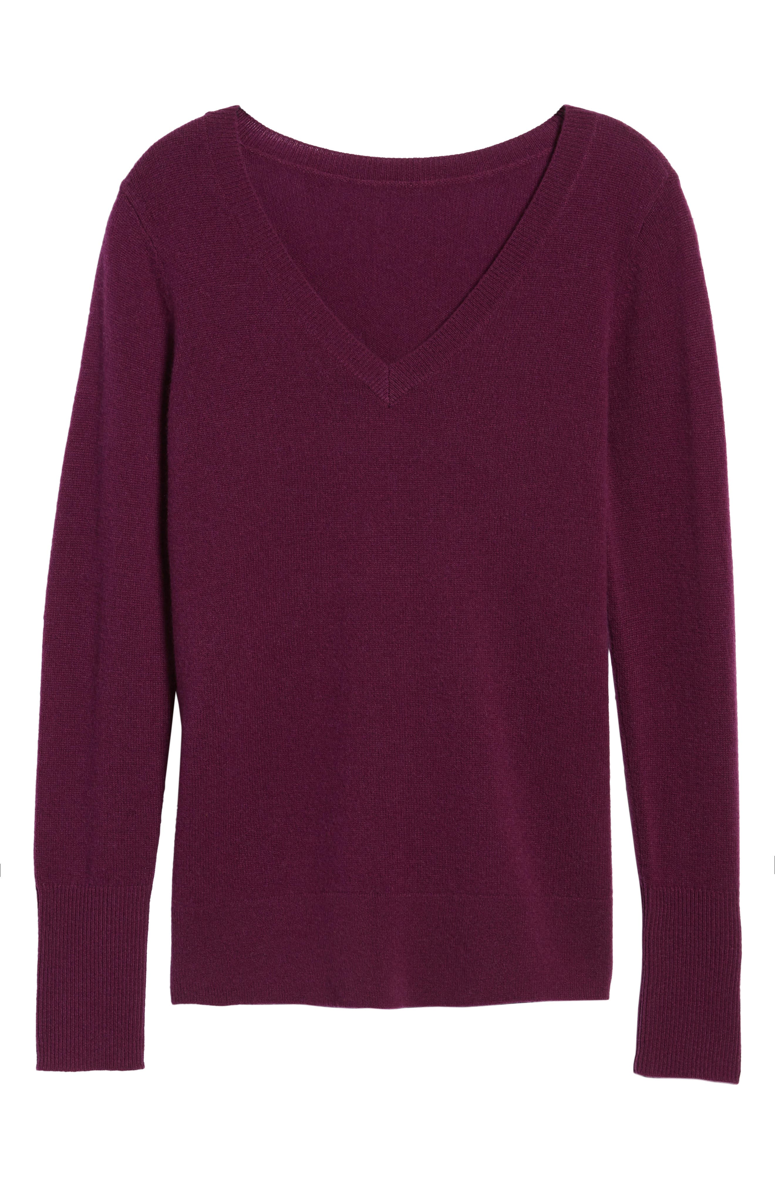 V-Neck Cashmere Sweater,                             Alternate thumbnail 92, color,