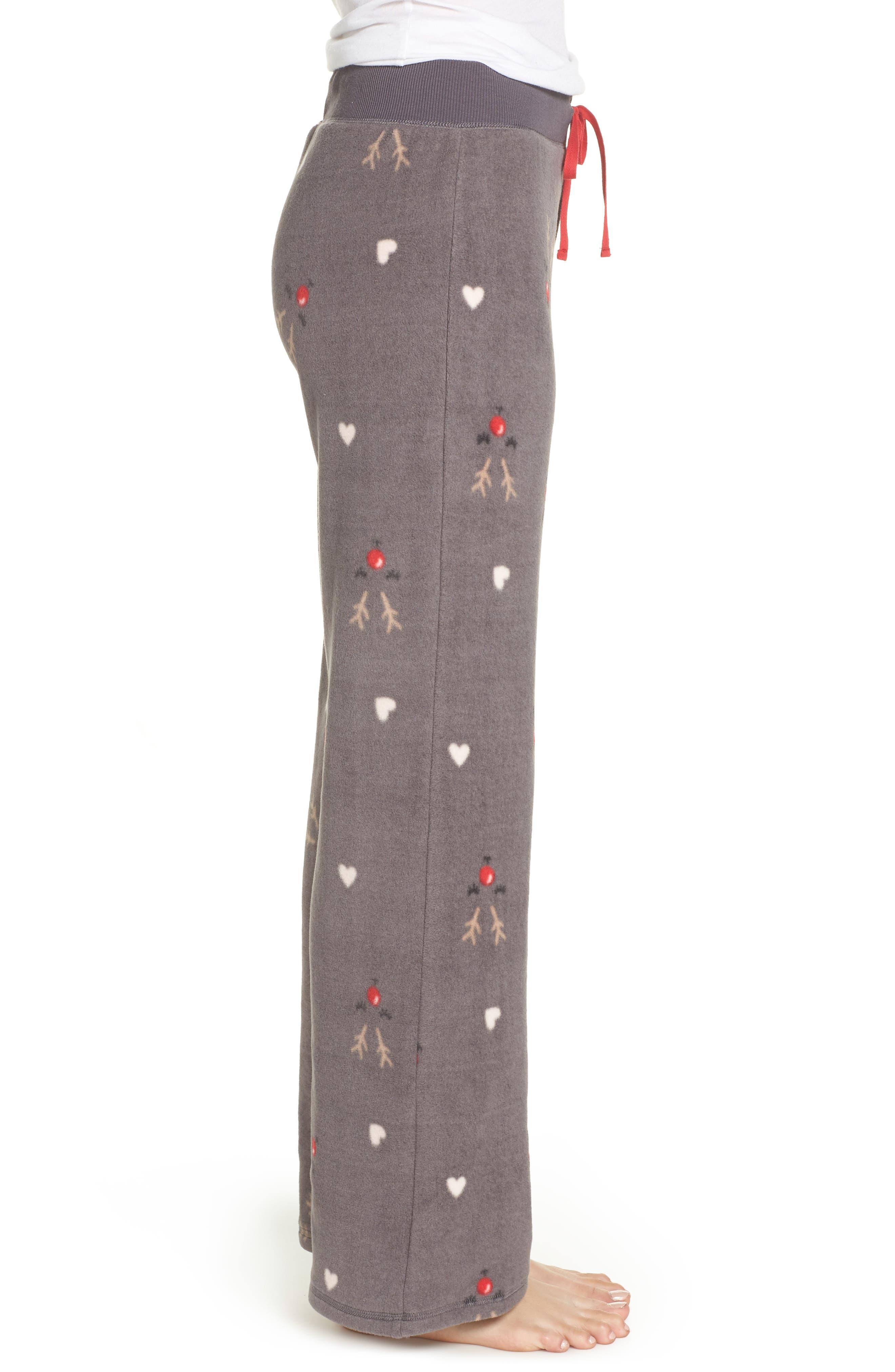 Fleece Pajama Pants,                             Alternate thumbnail 3, color,                             022