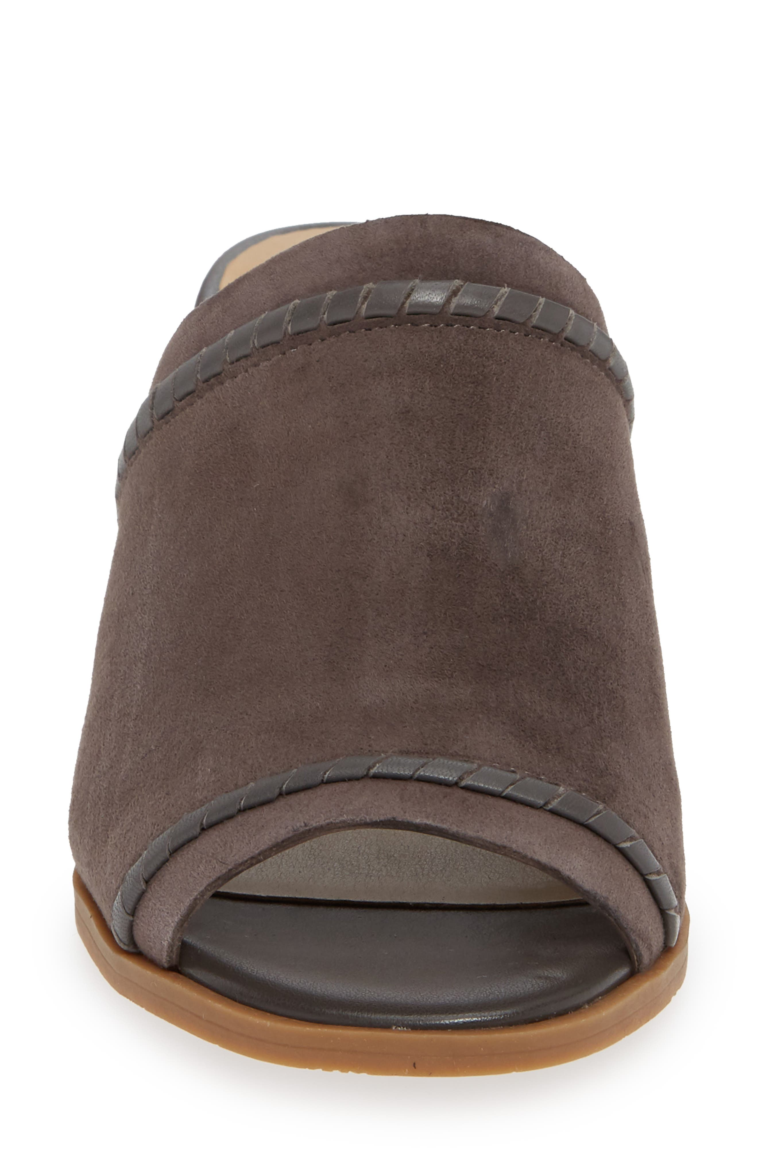 Campbell Mule,                             Alternate thumbnail 4, color,                             CHARCOAL SUEDE