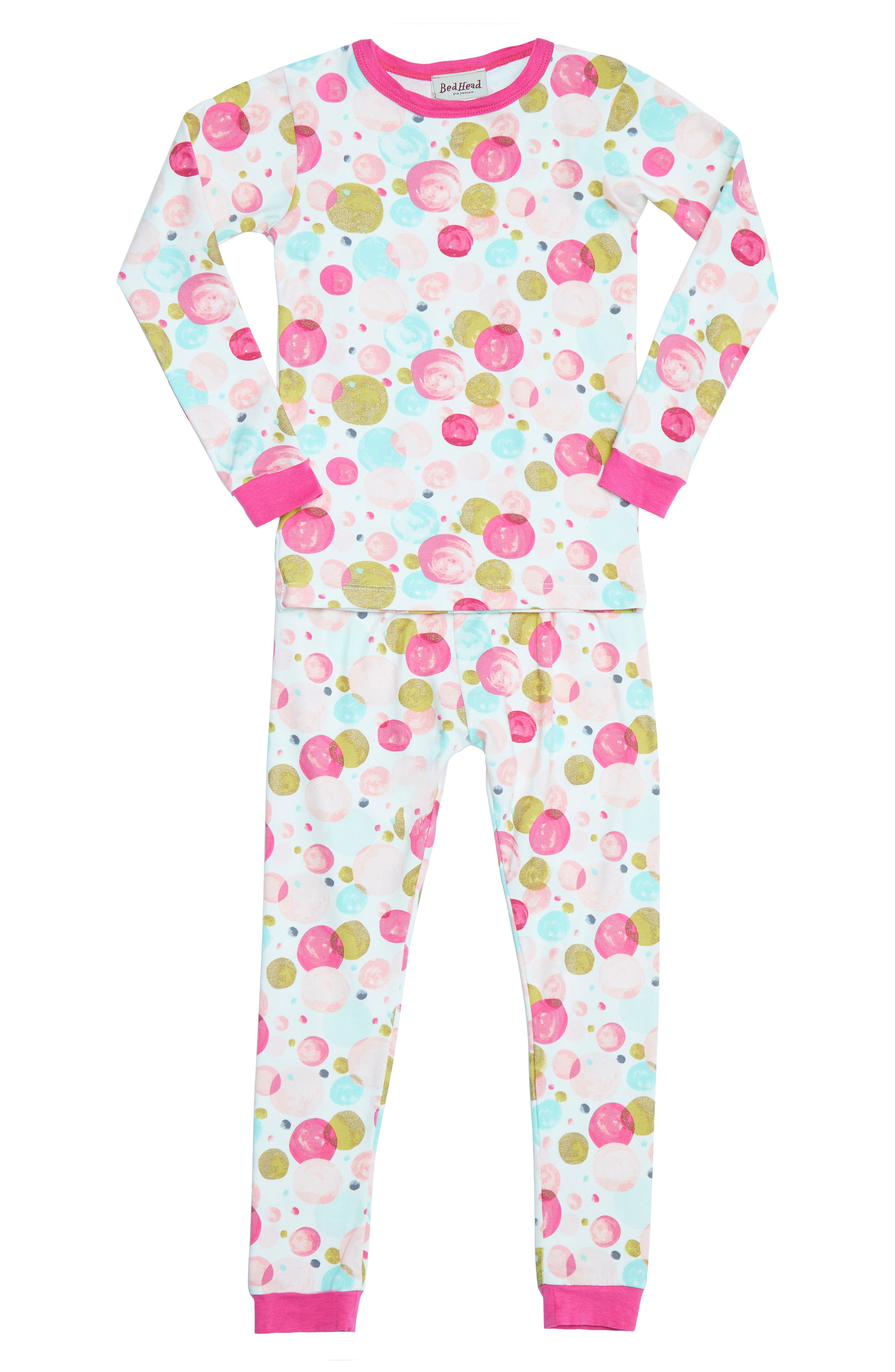 BEDHEAD,                             Print Fitted Two-Piece Pajamas,                             Main thumbnail 1, color,                             650