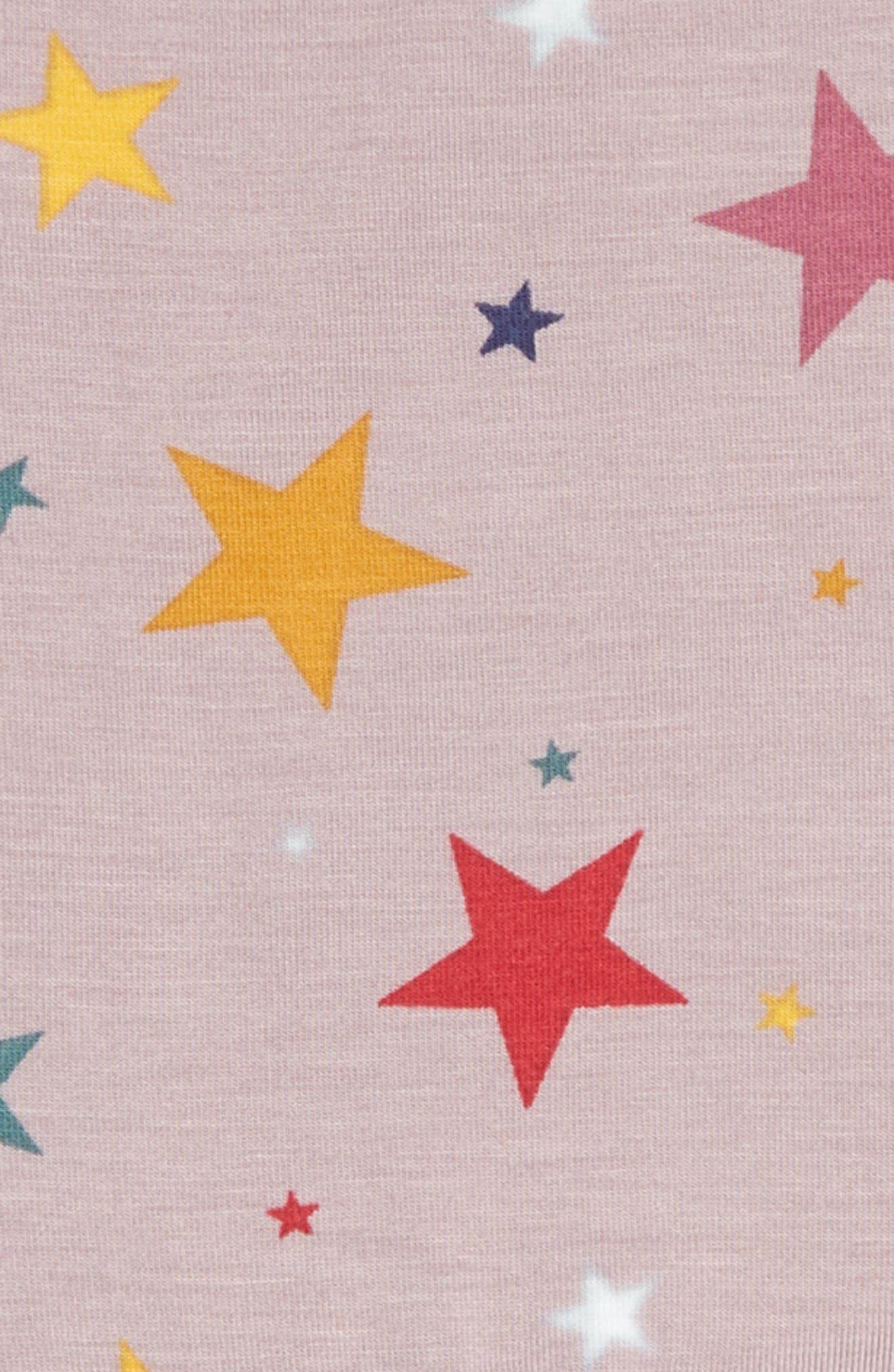 Candice Star Print Dress,                             Alternate thumbnail 3, color,                             LILAC