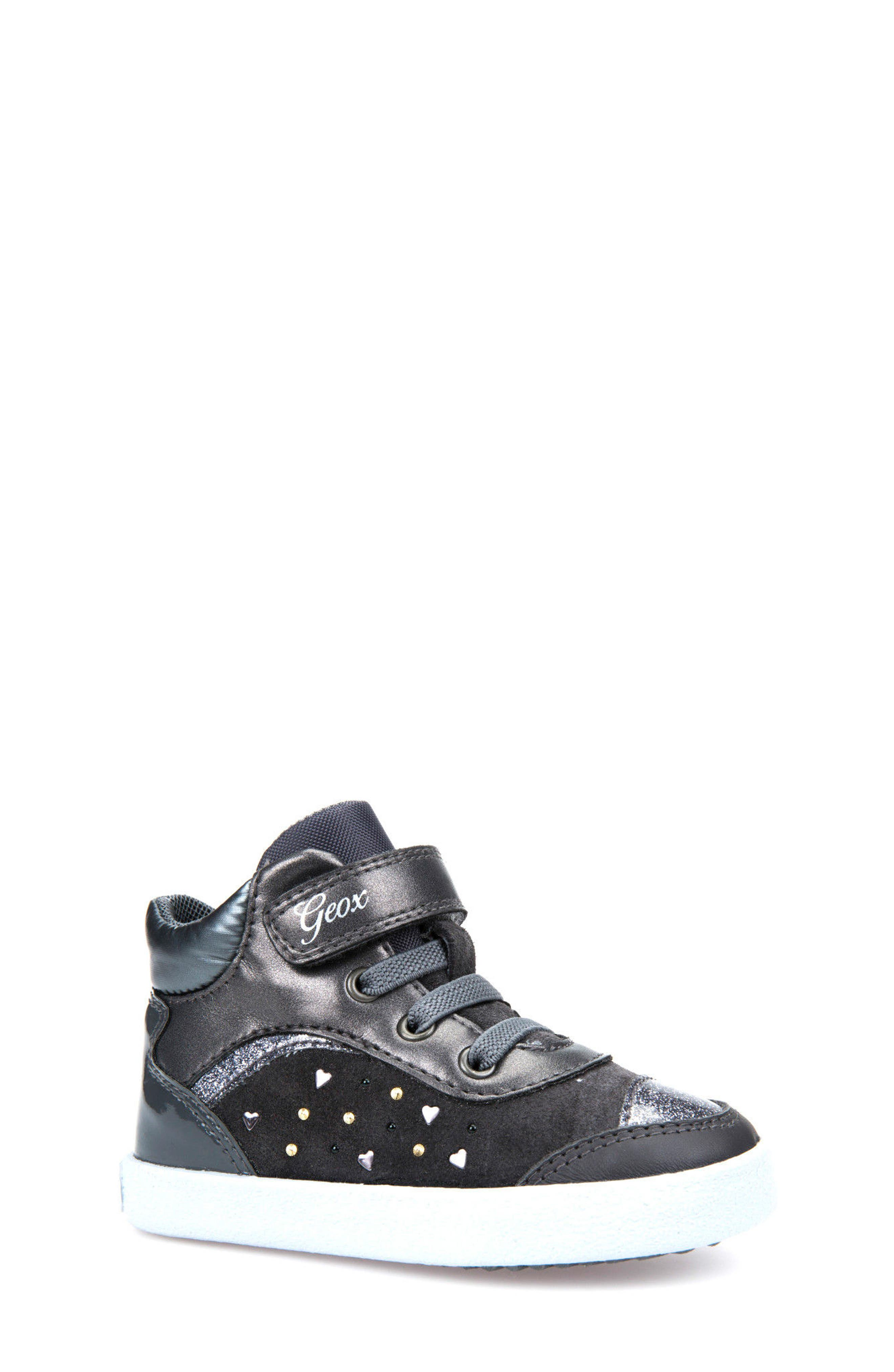 Kiwi Girl Studded High Top Sneaker,                             Main thumbnail 2, color,