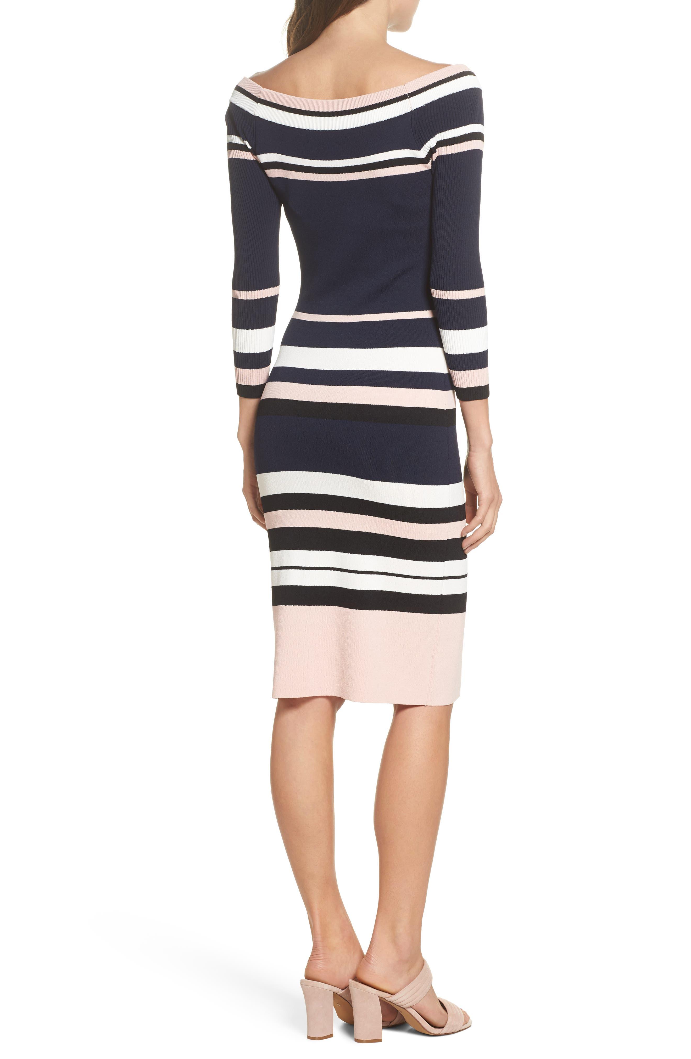 Stripe Sweater Dress,                             Alternate thumbnail 2, color,                             498