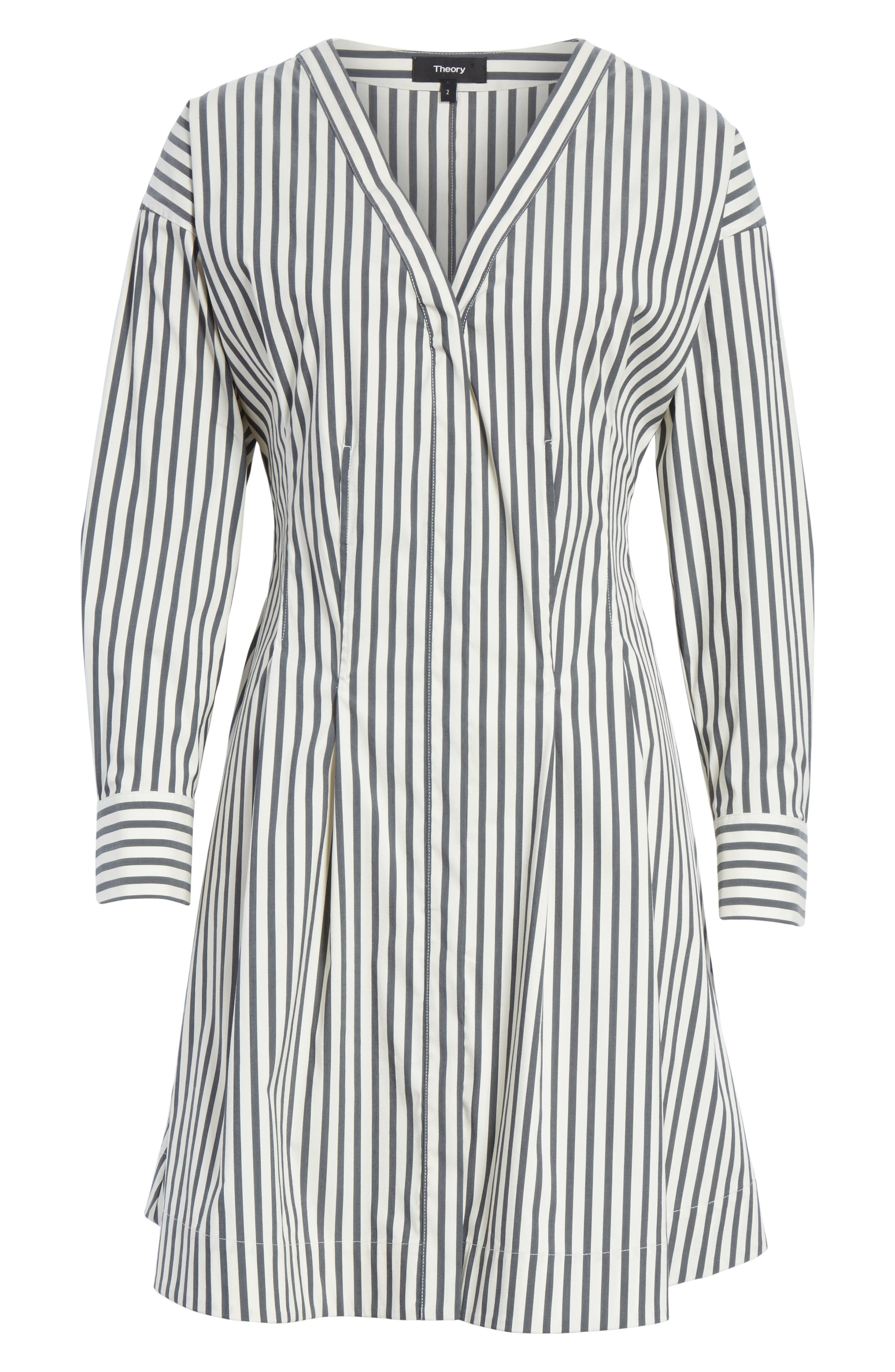 Stripe Shirtdress,                             Alternate thumbnail 6, color,