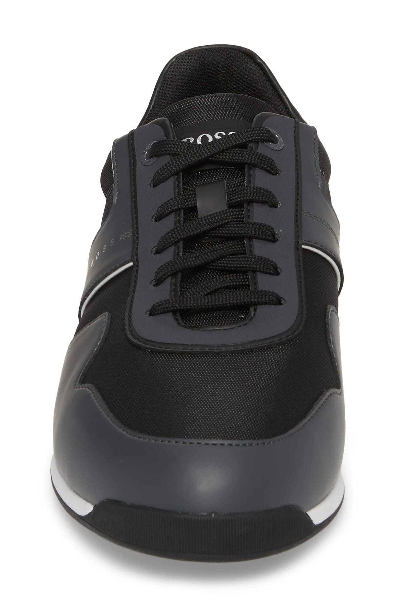 Maze Water Resistant Low Top Sneaker,                             Alternate thumbnail 4, color,                             CHARCOAL