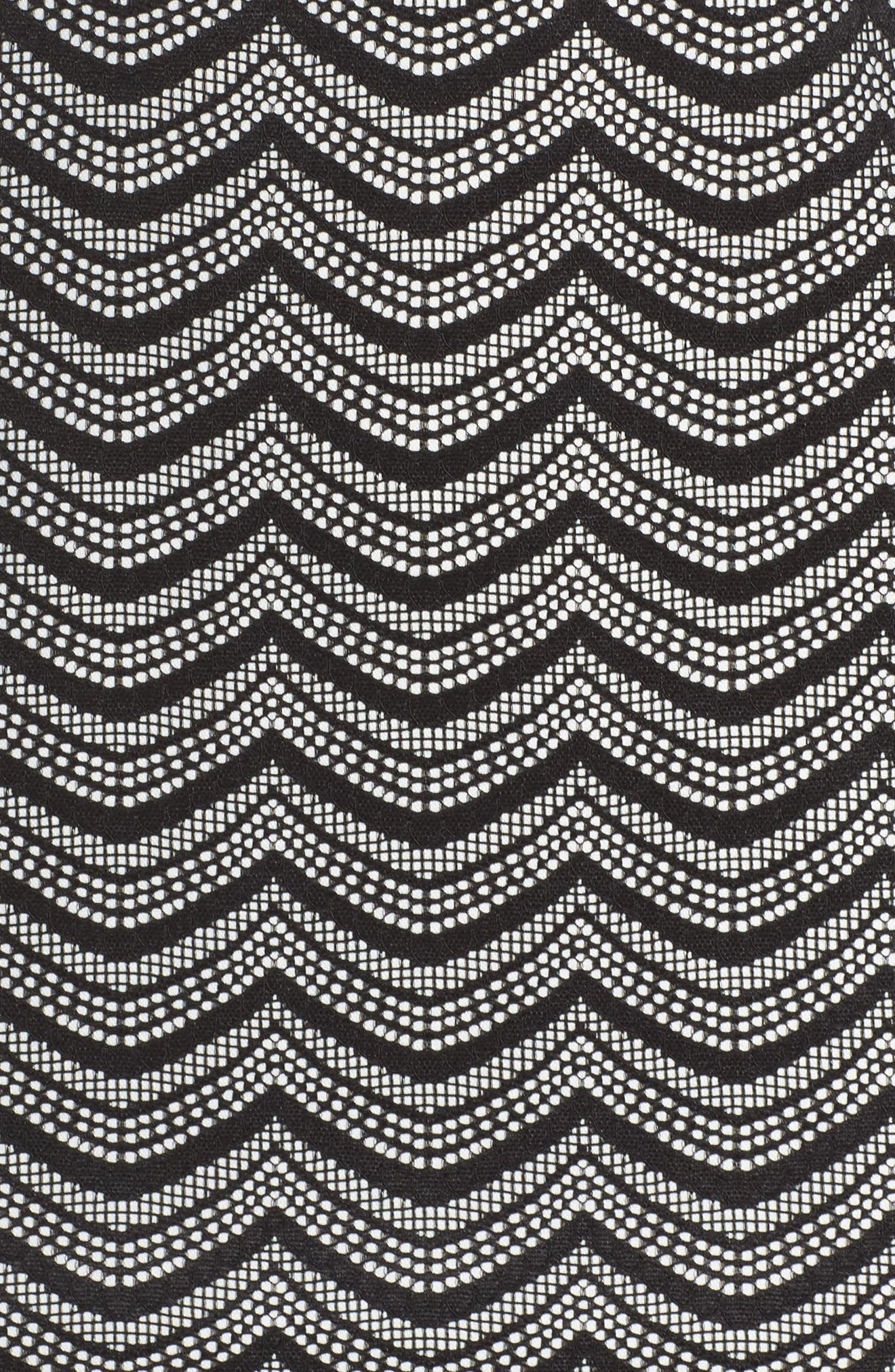 Fringe Sheath Dress,                             Alternate thumbnail 5, color,                             001