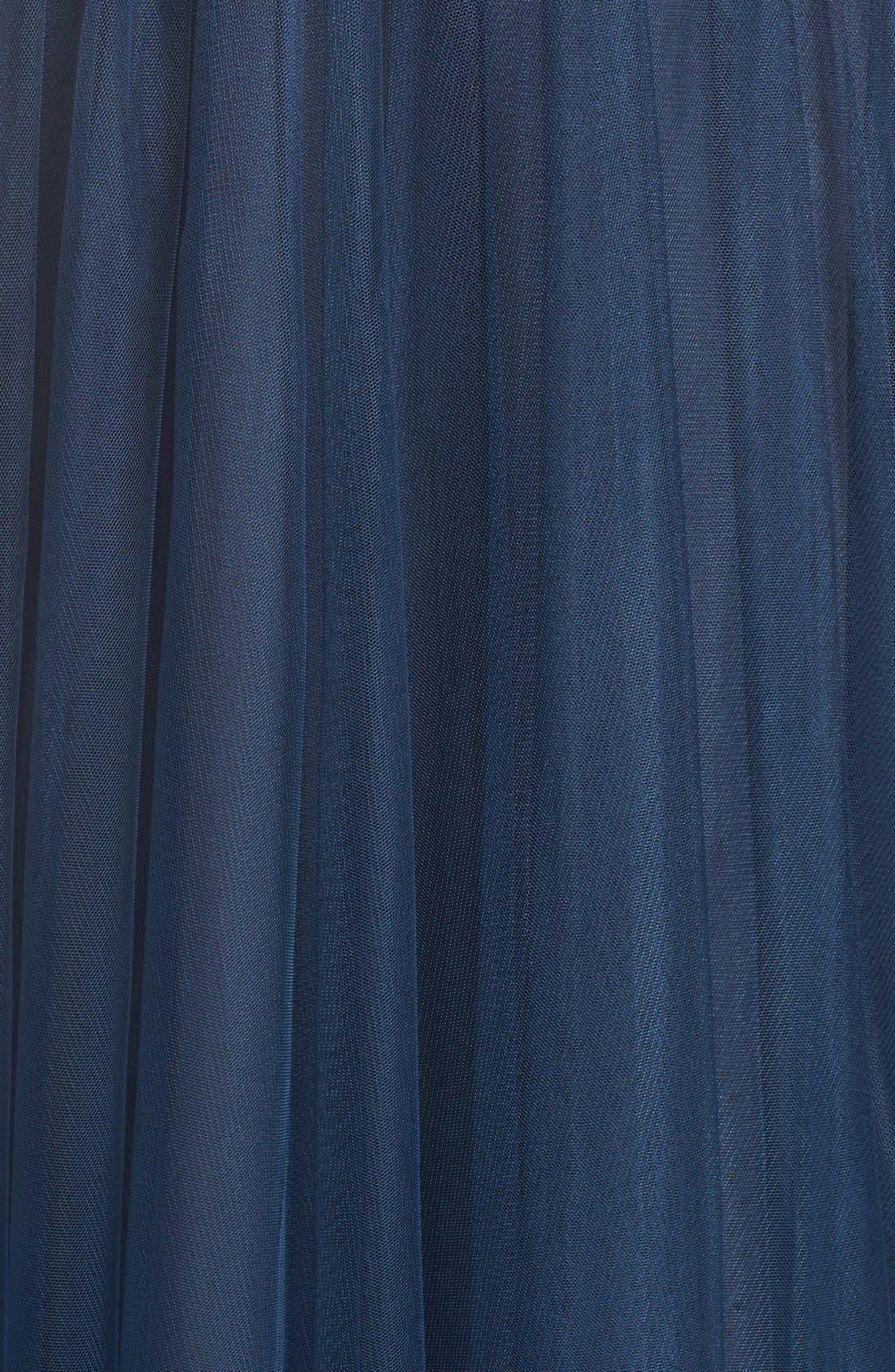 Tulle Halter Neck Gown,                             Alternate thumbnail 15, color,