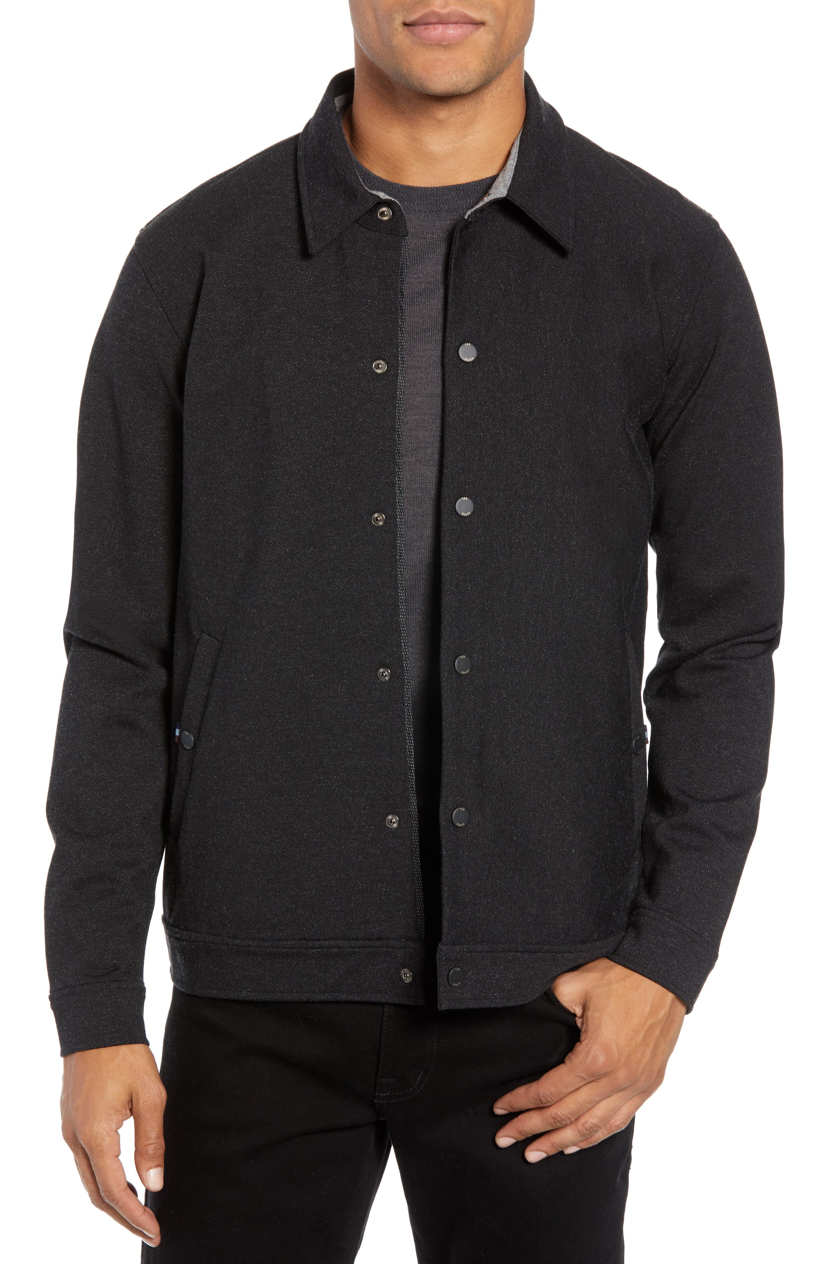 Flapjak Knit Shirt,                         Main,                         color, BLACK