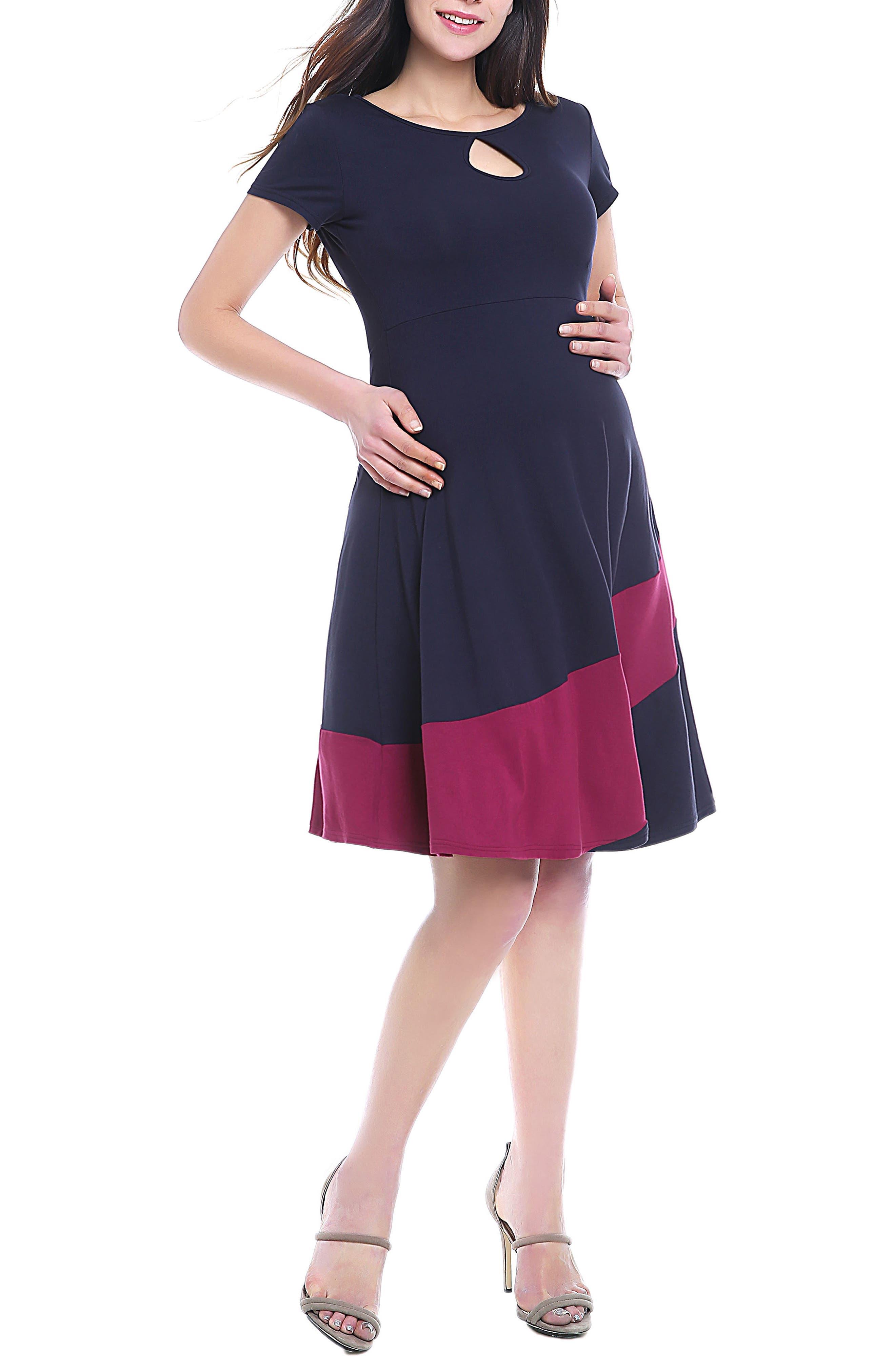 June Maternity Babydoll Dress,                         Main,                         color,