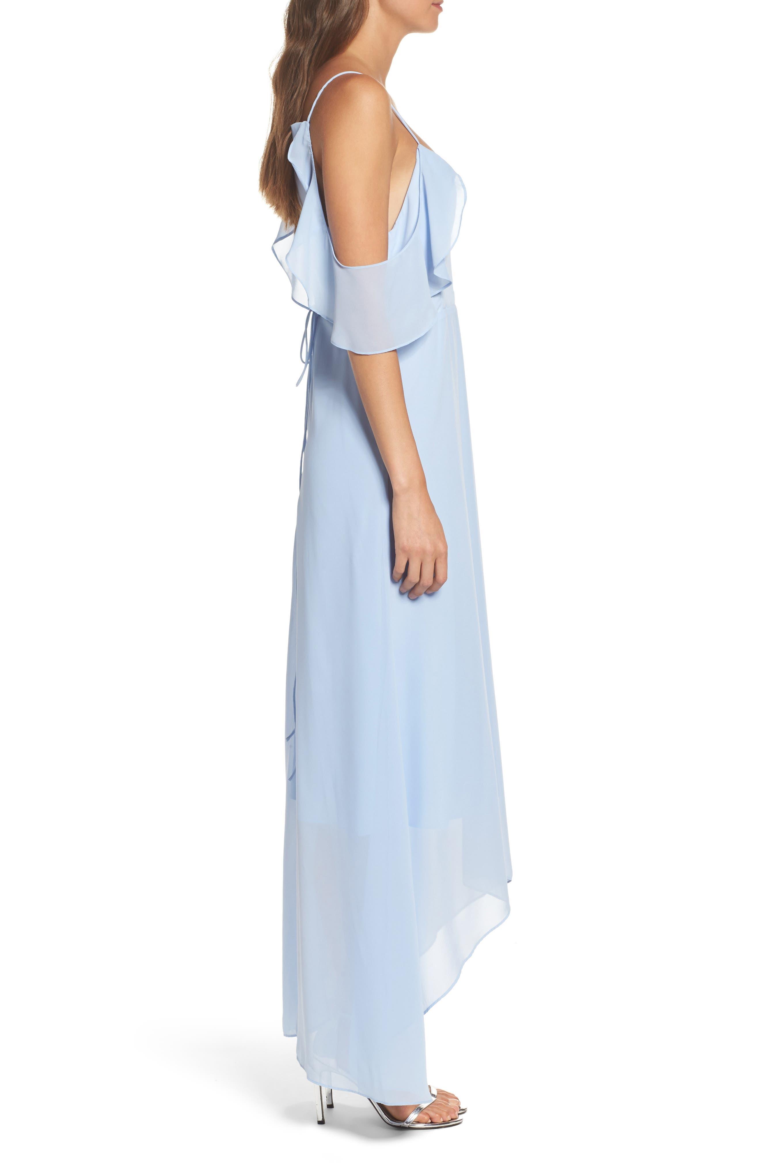 Cold Shoulder Maxi Dress,                             Alternate thumbnail 3, color,                             400