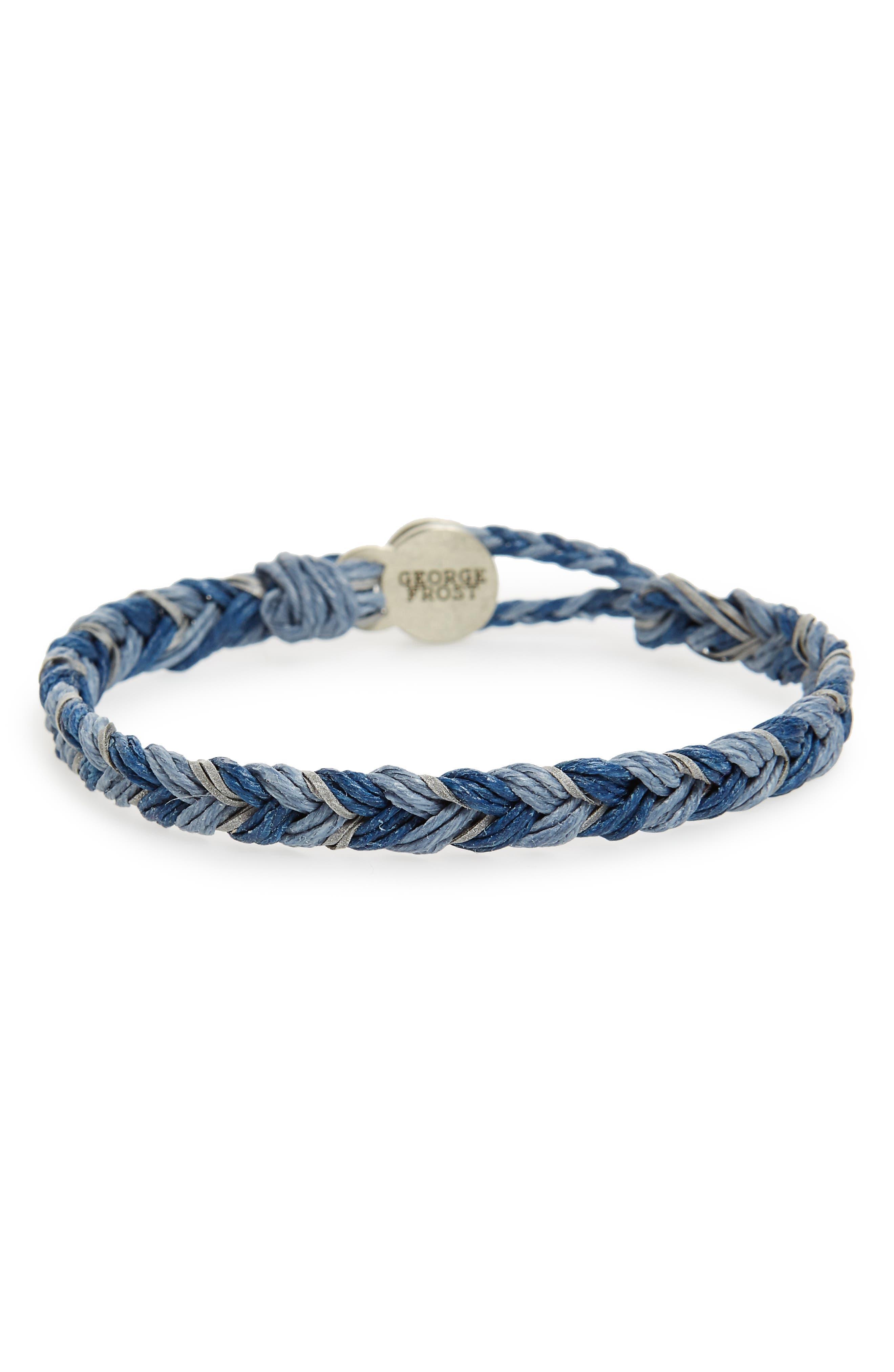 Waxed Woven Bracelet,                         Main,                         color, 400