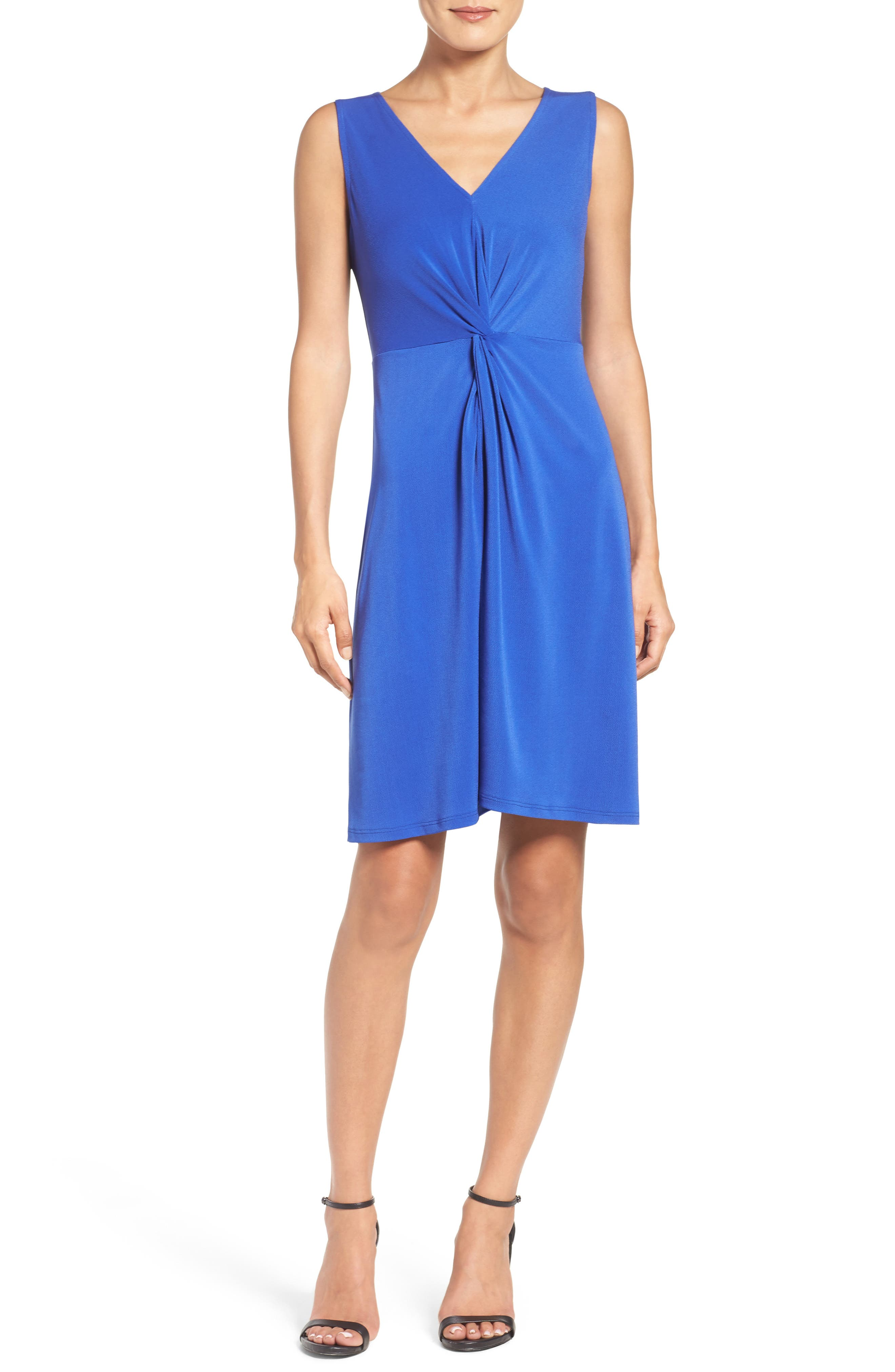 Twist Front Jersey Sheath Dress,                             Alternate thumbnail 5, color,                             430