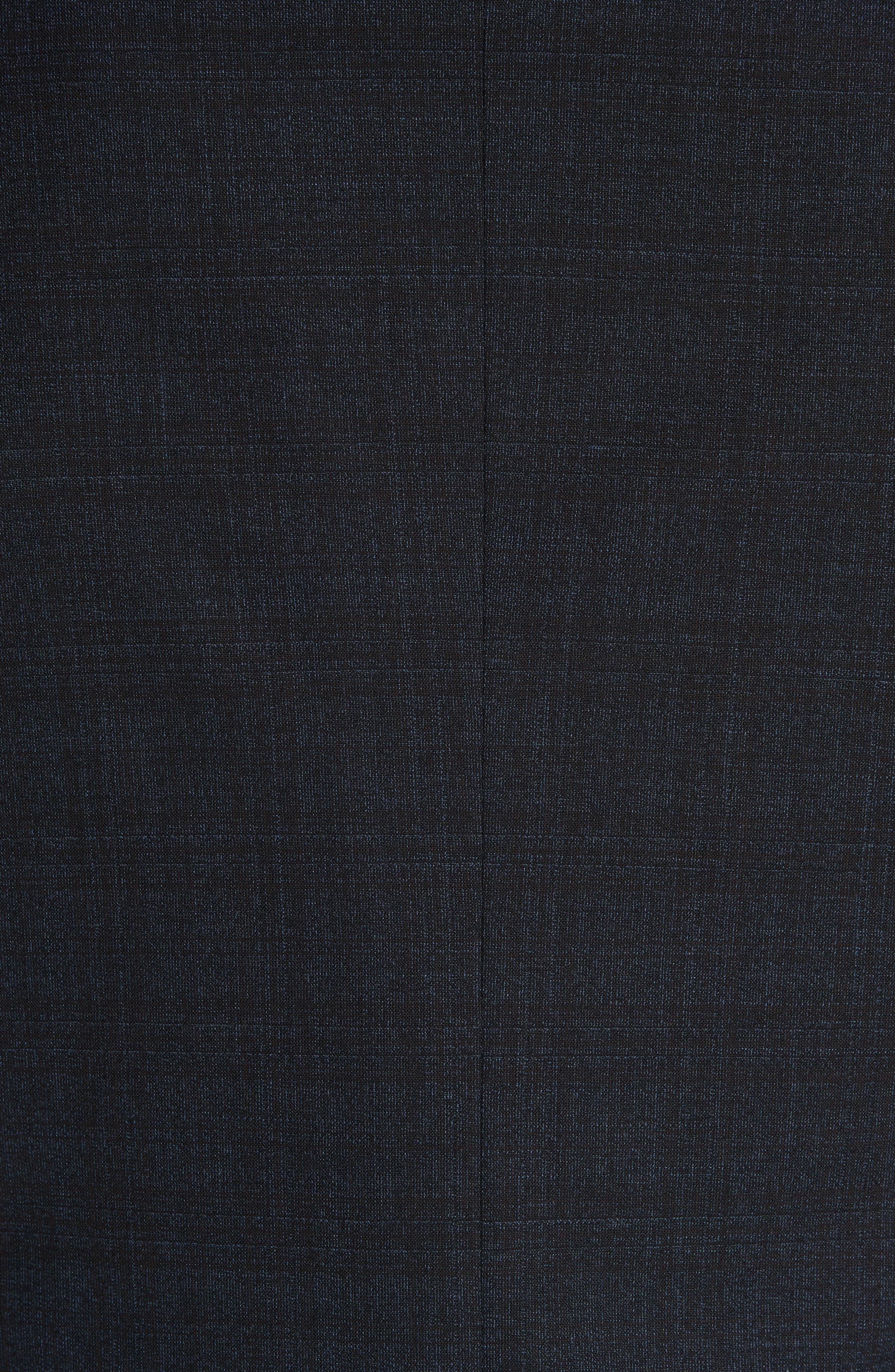 G-Line Trim Fit Stretch Plaid Wool Suit,                             Alternate thumbnail 7, color,                             NAVY/ BROWN