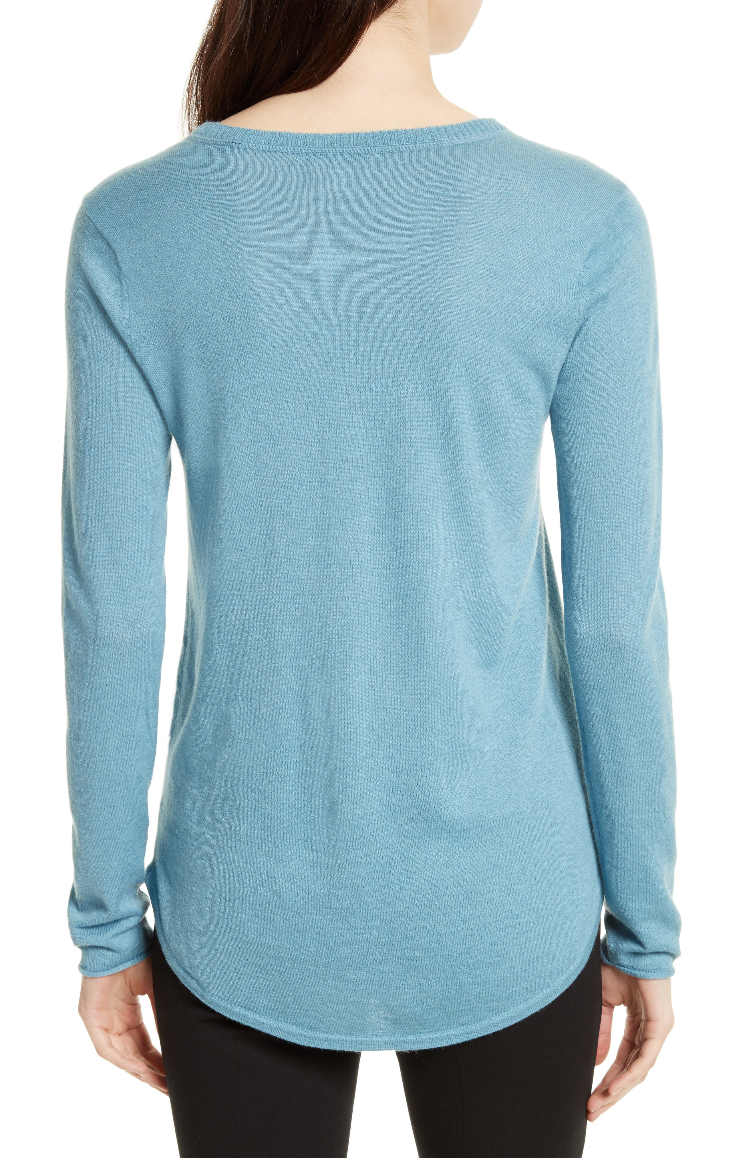 Raw Edge Cashmere Sweater,                             Alternate thumbnail 2, color,                             455