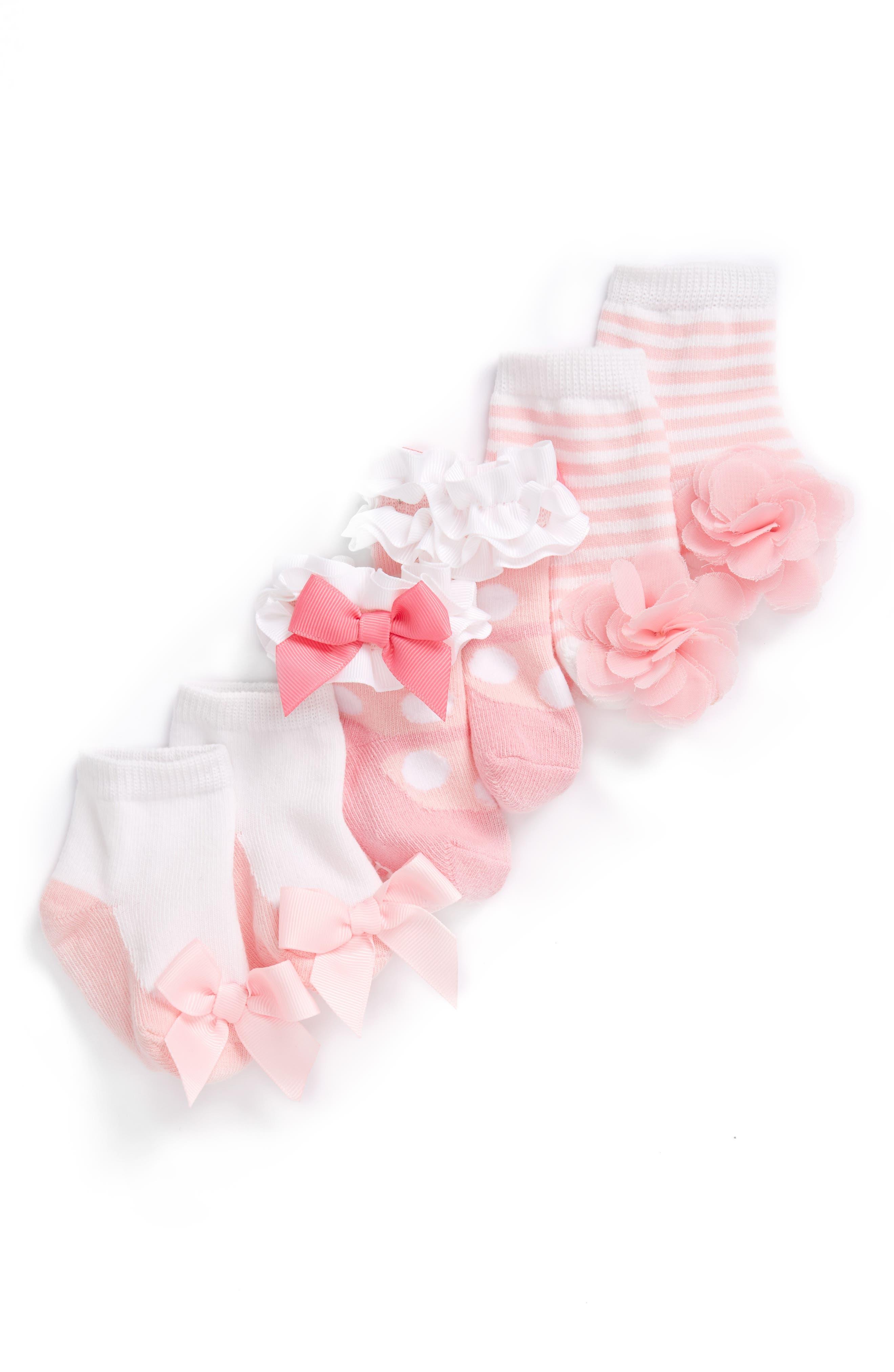 Socks Set,                             Alternate thumbnail 2, color,                             NEW PINK/ WHITE