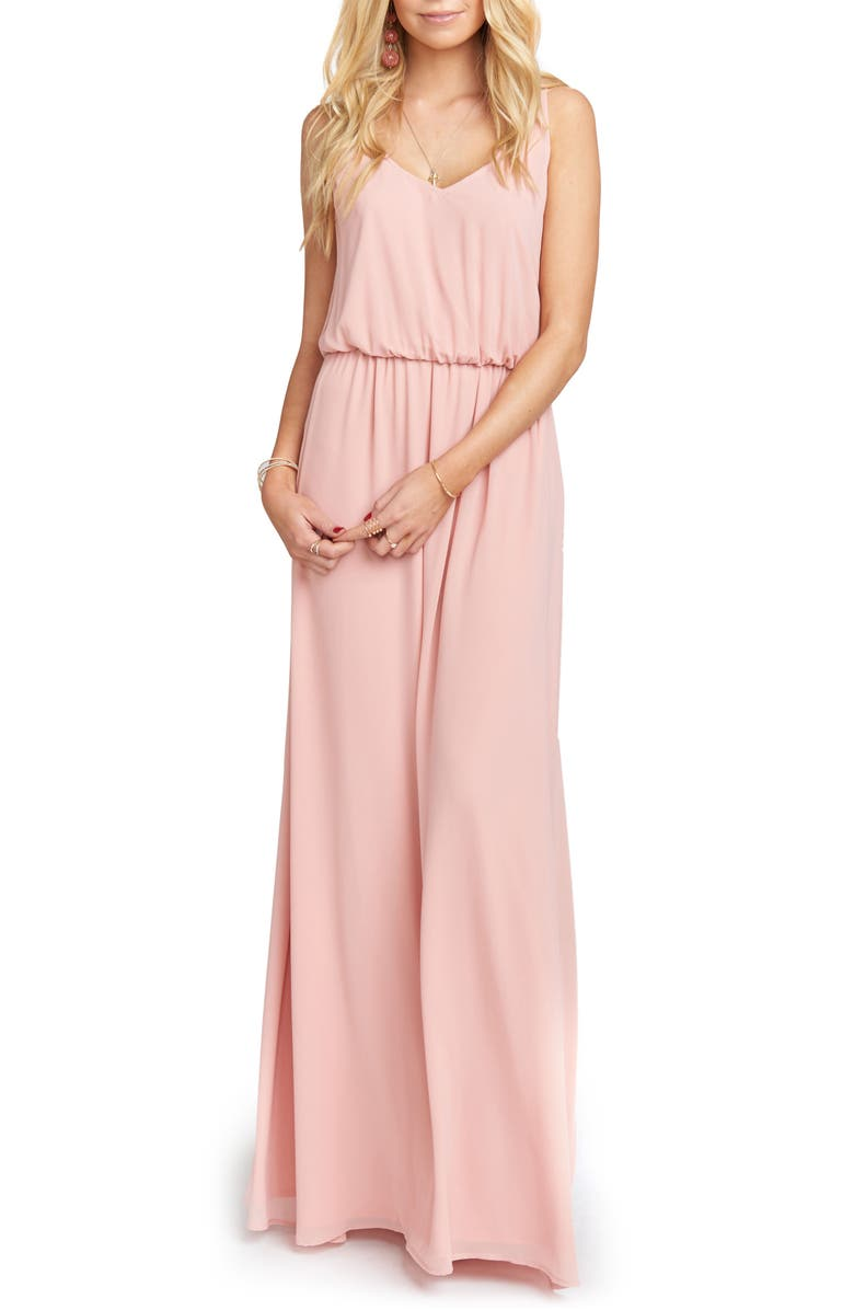Show Me Your Mumu Kendall Soft V-Back A-Line Gown | Nordstrom