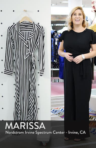 Stripe Wrap Midi Shirtdress, sales video thumbnail
