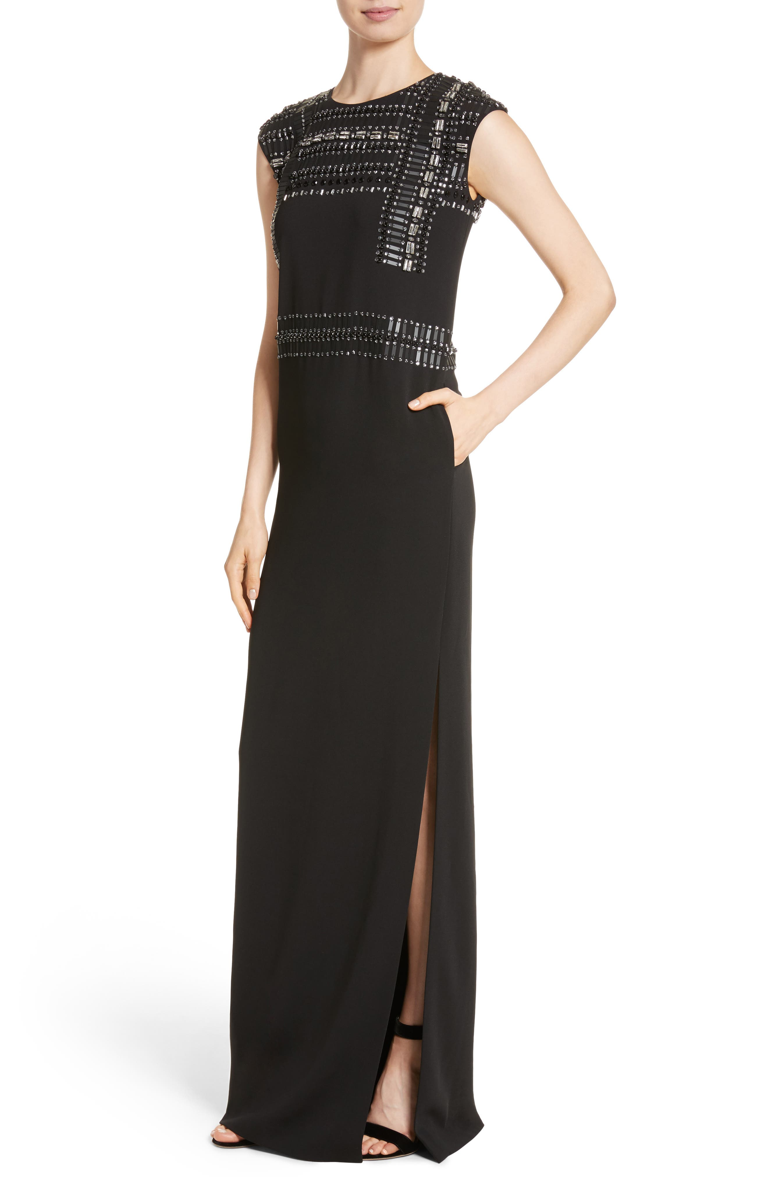 Cady Column Gown,                             Alternate thumbnail 4, color,