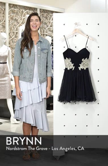 Appliqué Sweetheart Fit & Flare Dress, sales video thumbnail