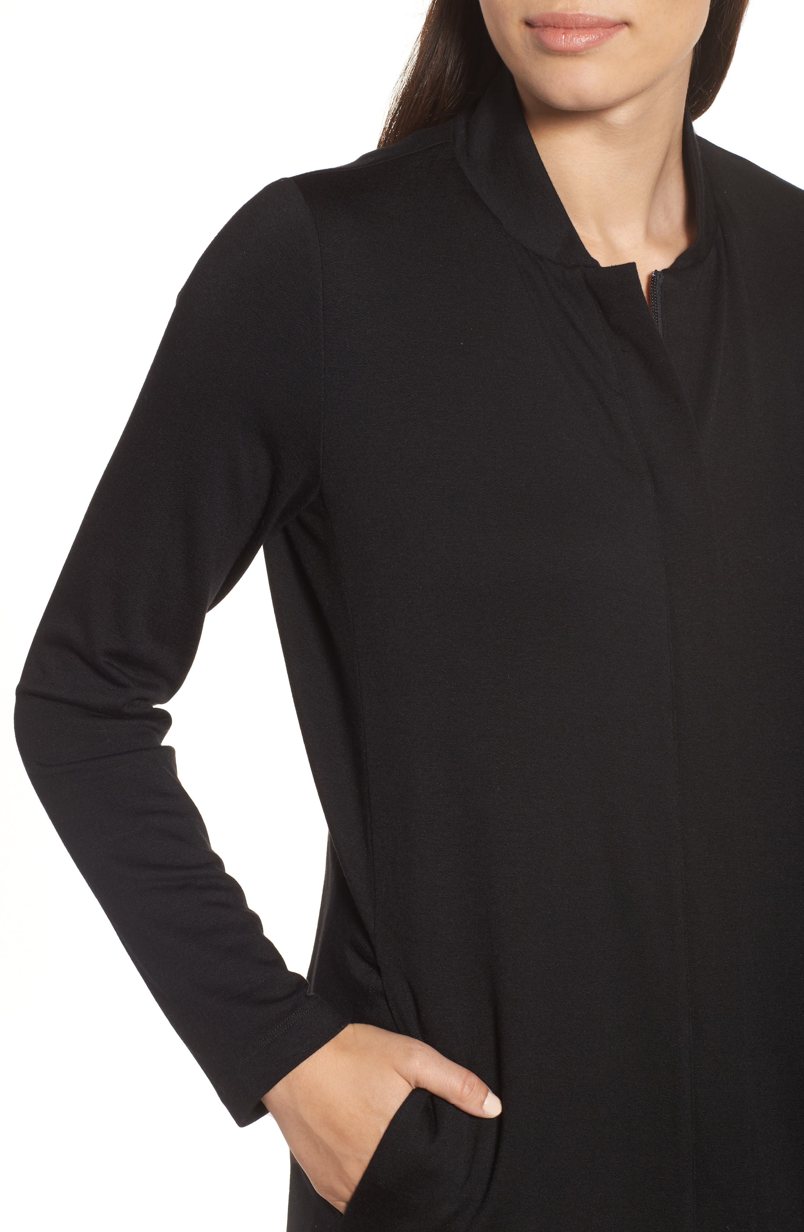 Front Zip Cardigan,                             Alternate thumbnail 7, color,