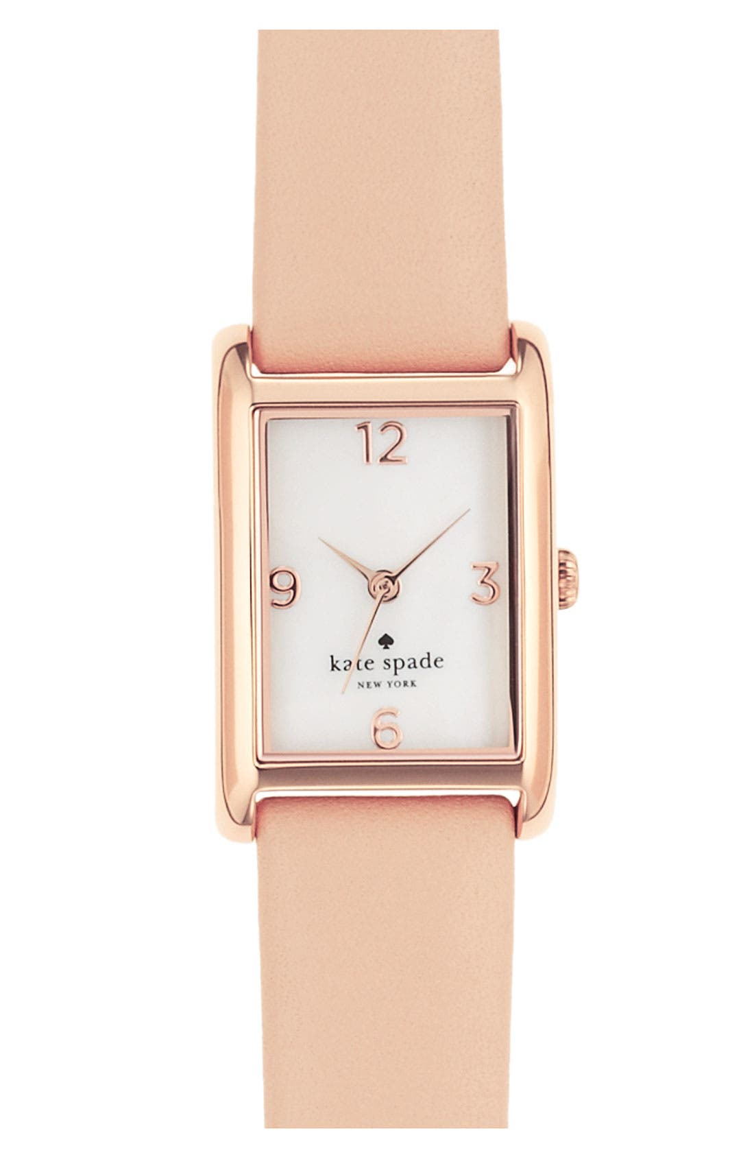 'cooper' leather strap watch, 21mm x 32mm,                             Main thumbnail 6, color,