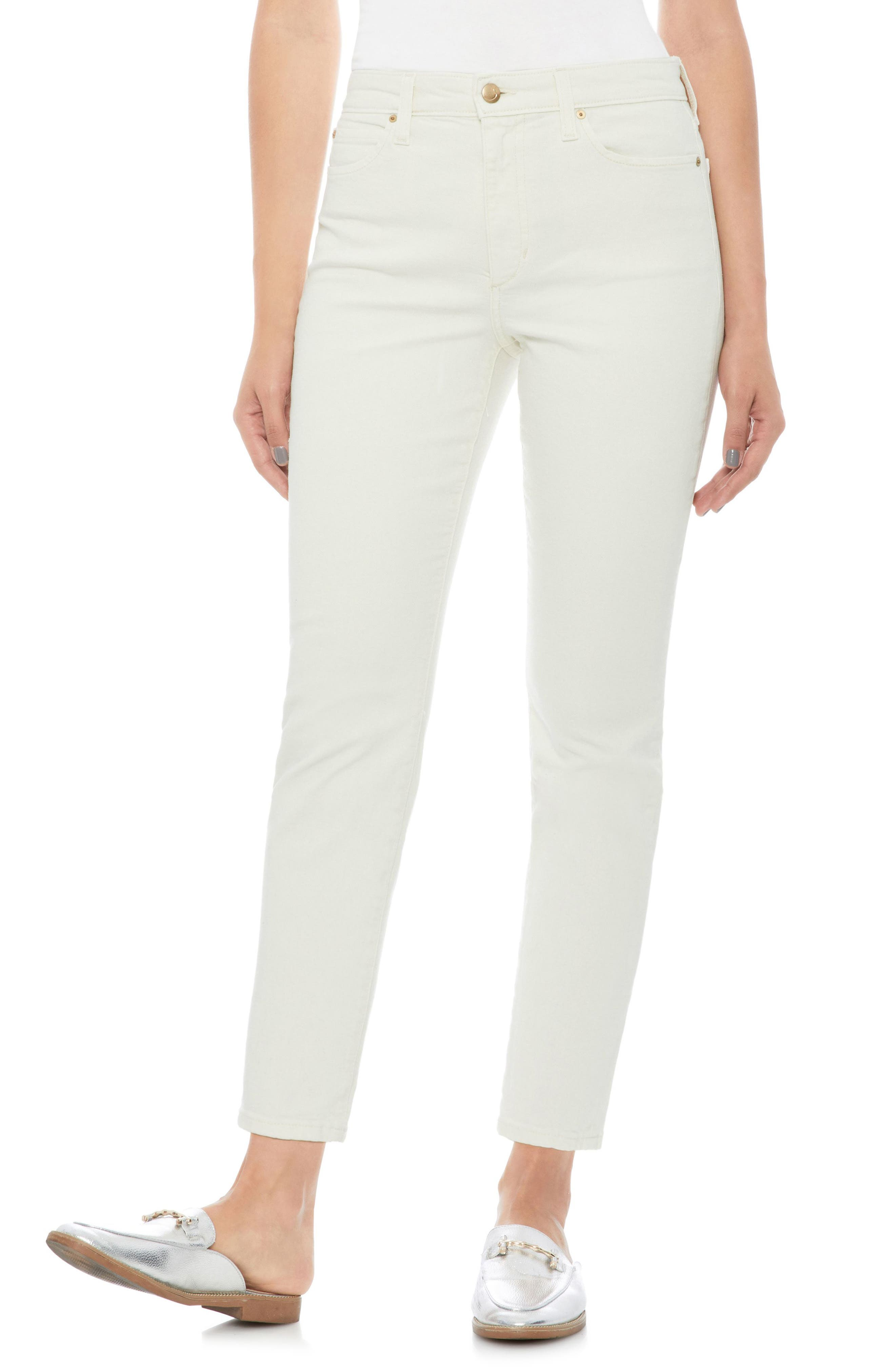 Smith High Waist Ankle Slim Jeans,                         Main,                         color, 100
