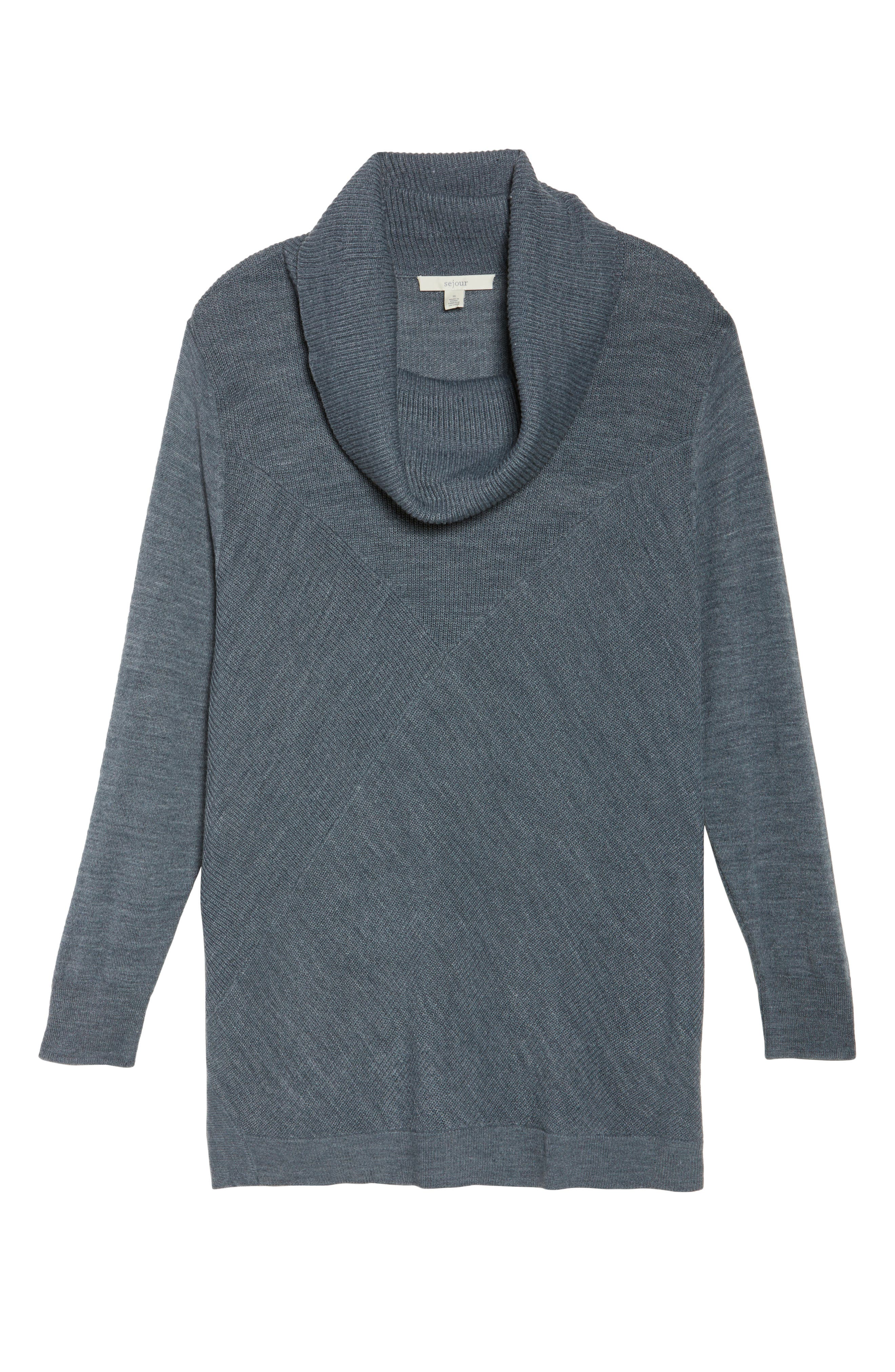 Cowl Neck Ribbed Trim Pullover,                             Alternate thumbnail 34, color,
