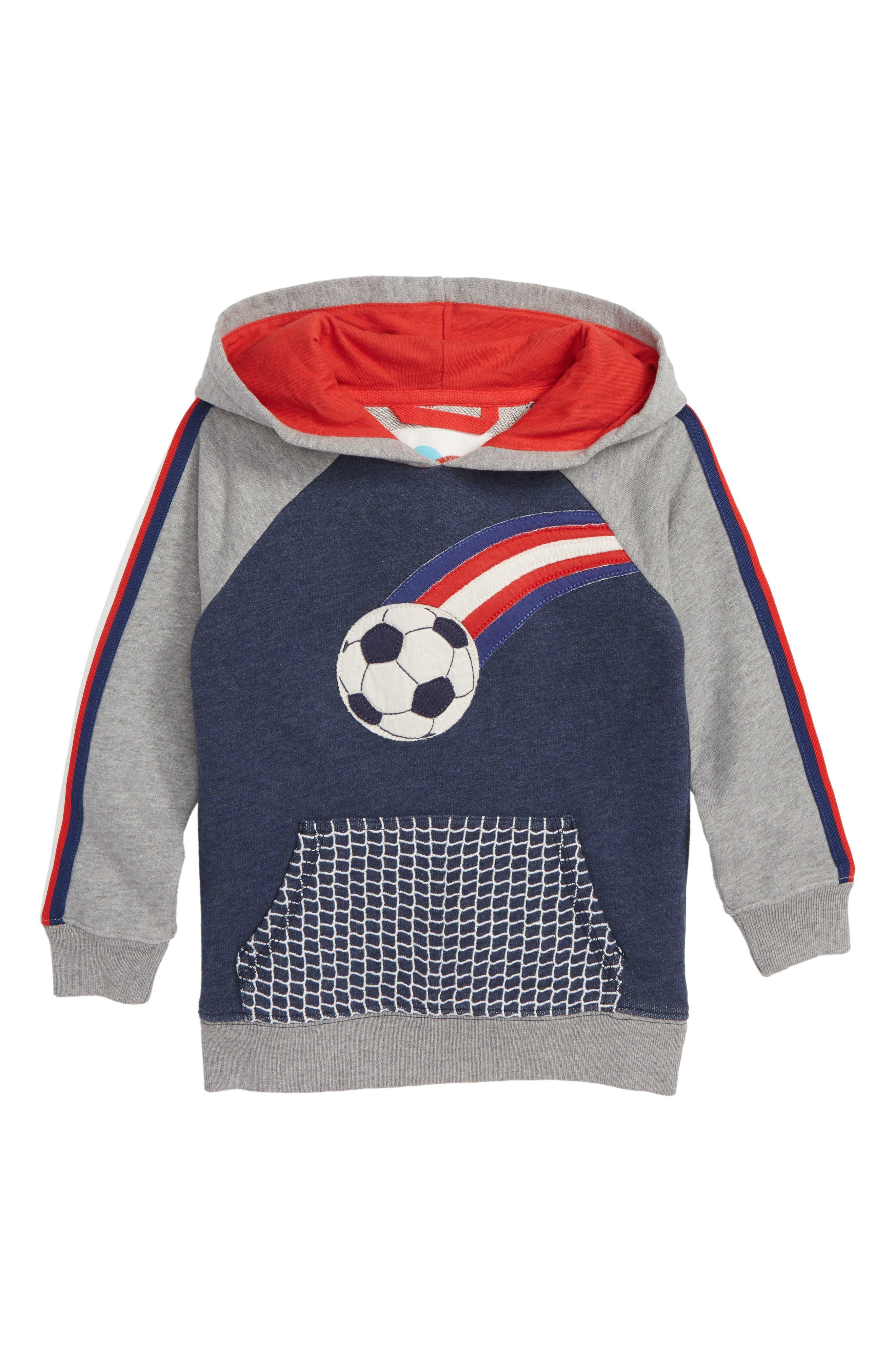 Soccer Appliqué Hoodie,                         Main,                         color, 414