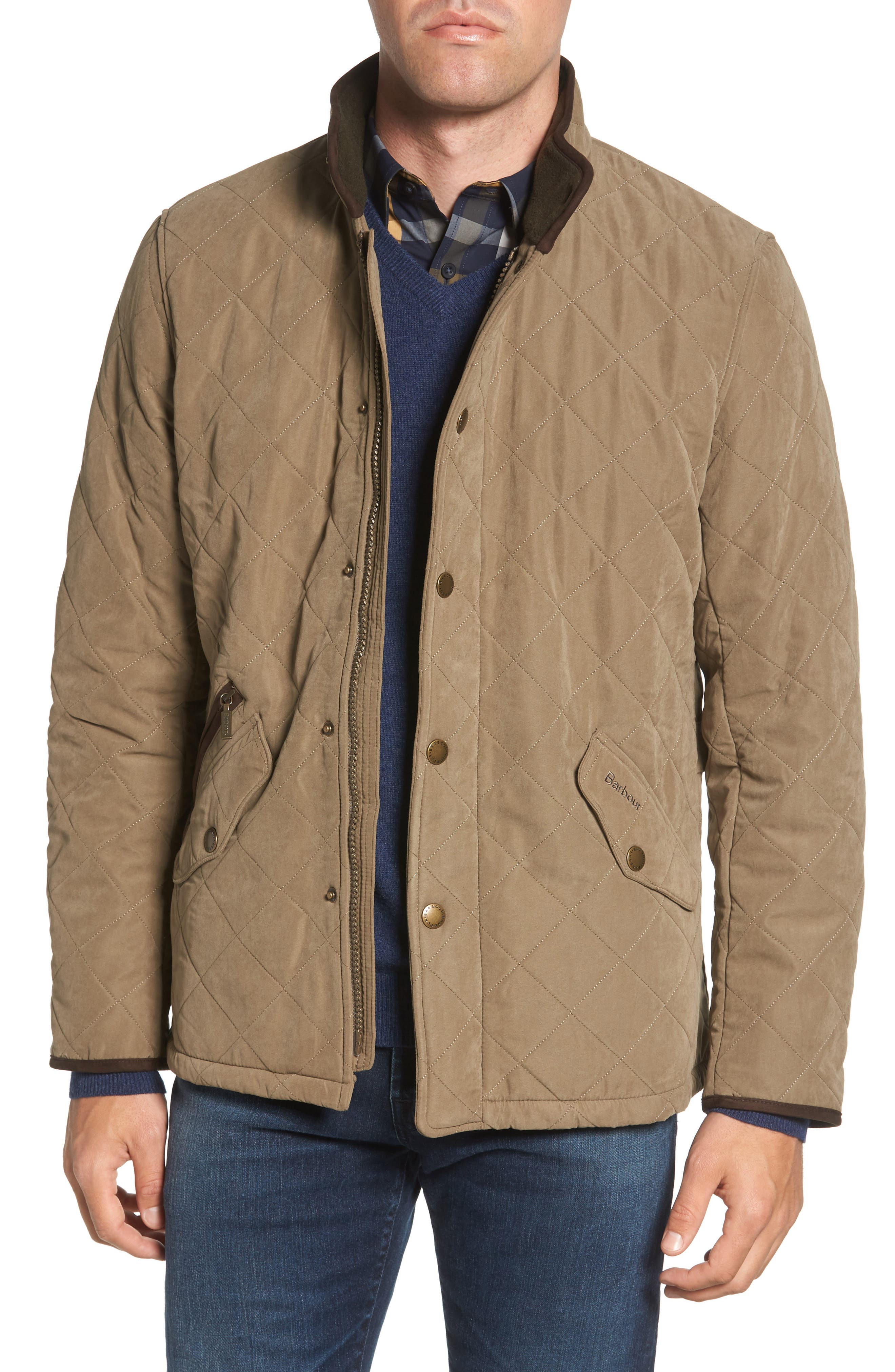 Bowden Quilted Jacket,                             Main thumbnail 1, color,                             LIGHT OLIVE