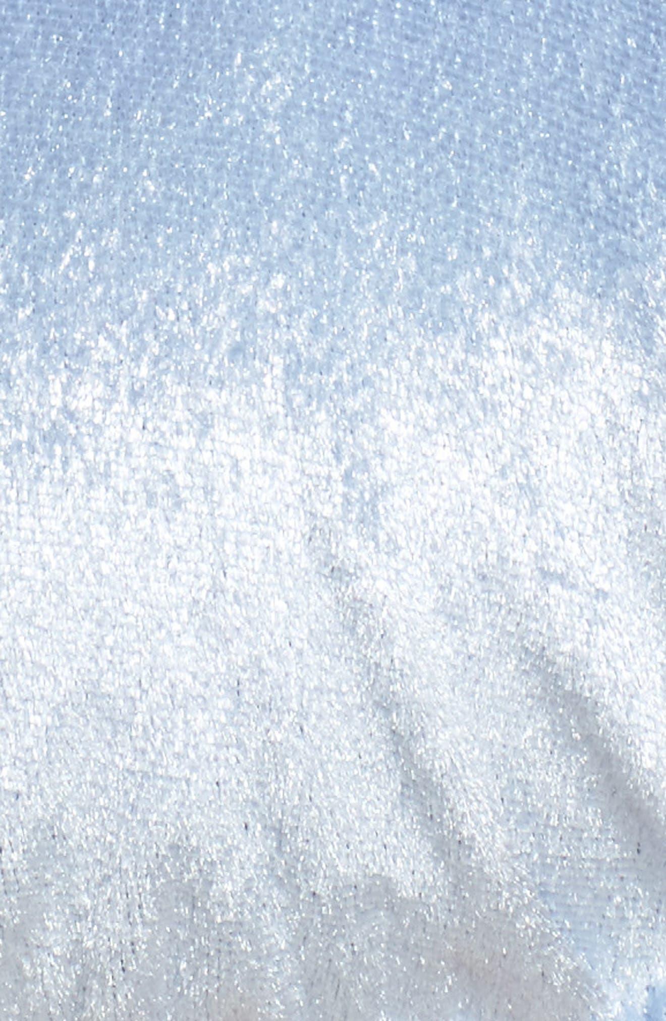 Knox Crushed Velvet Triangle Bikini Top,                             Alternate thumbnail 5, color,                             454