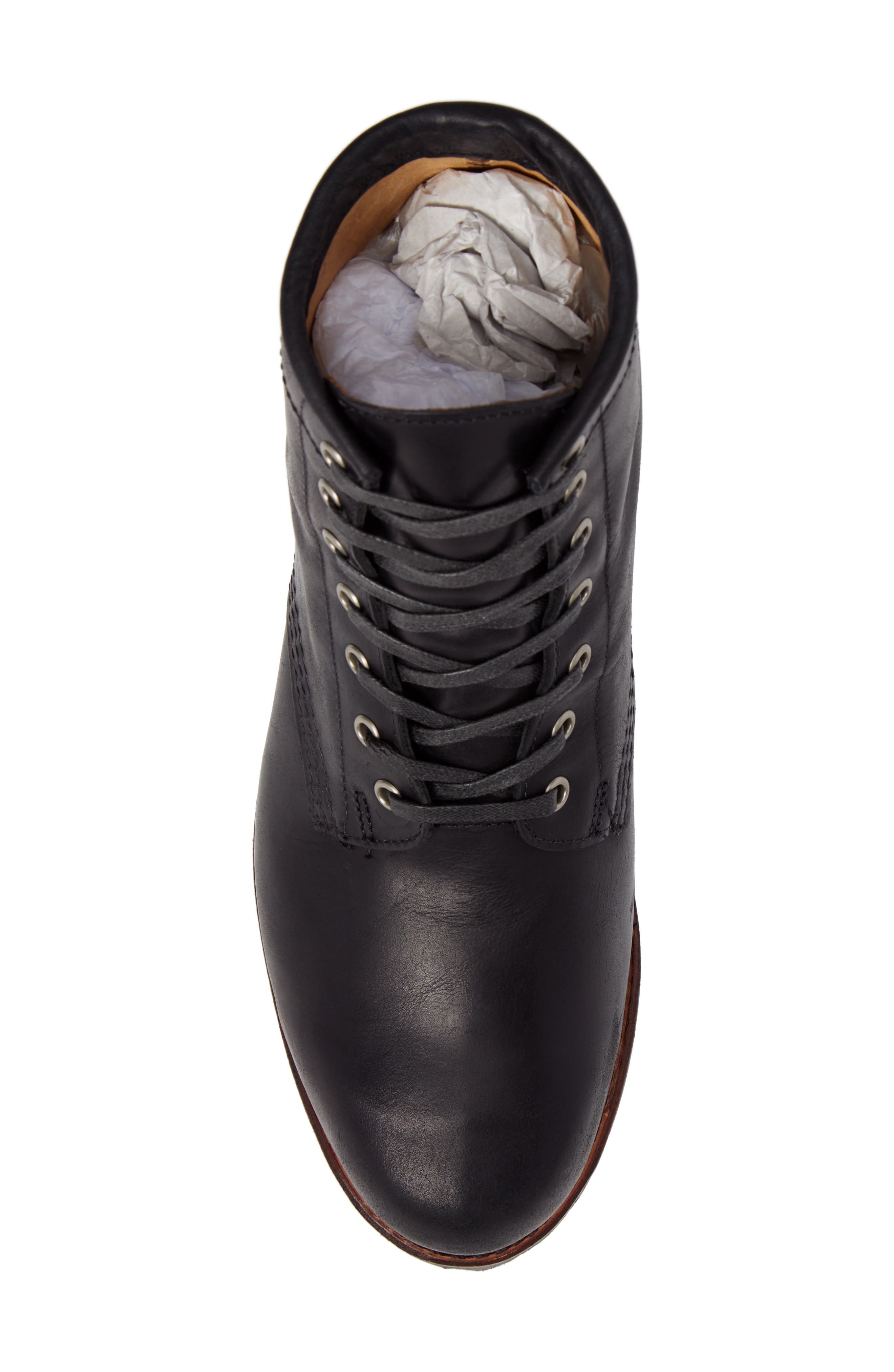 Addison Lace-Up Boot,                             Alternate thumbnail 5, color,                             001